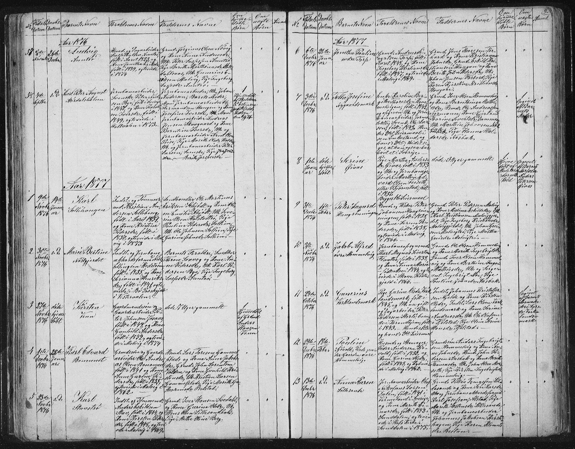 SAT, Ministerialprotokoller, klokkerbøker og fødselsregistre - Sør-Trøndelag, 616/L0406: Ministerialbok nr. 616A03, 1843-1879, s. 93