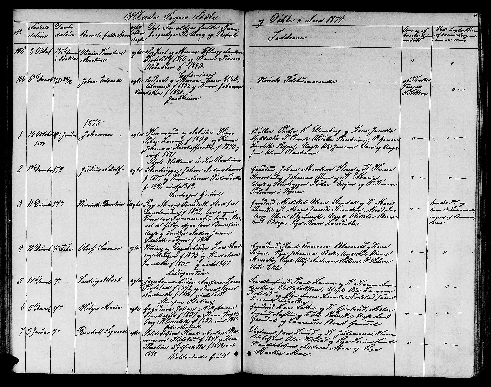 SAT, Ministerialprotokoller, klokkerbøker og fødselsregistre - Sør-Trøndelag, 606/L0311: Klokkerbok nr. 606C07, 1860-1877, s. 111