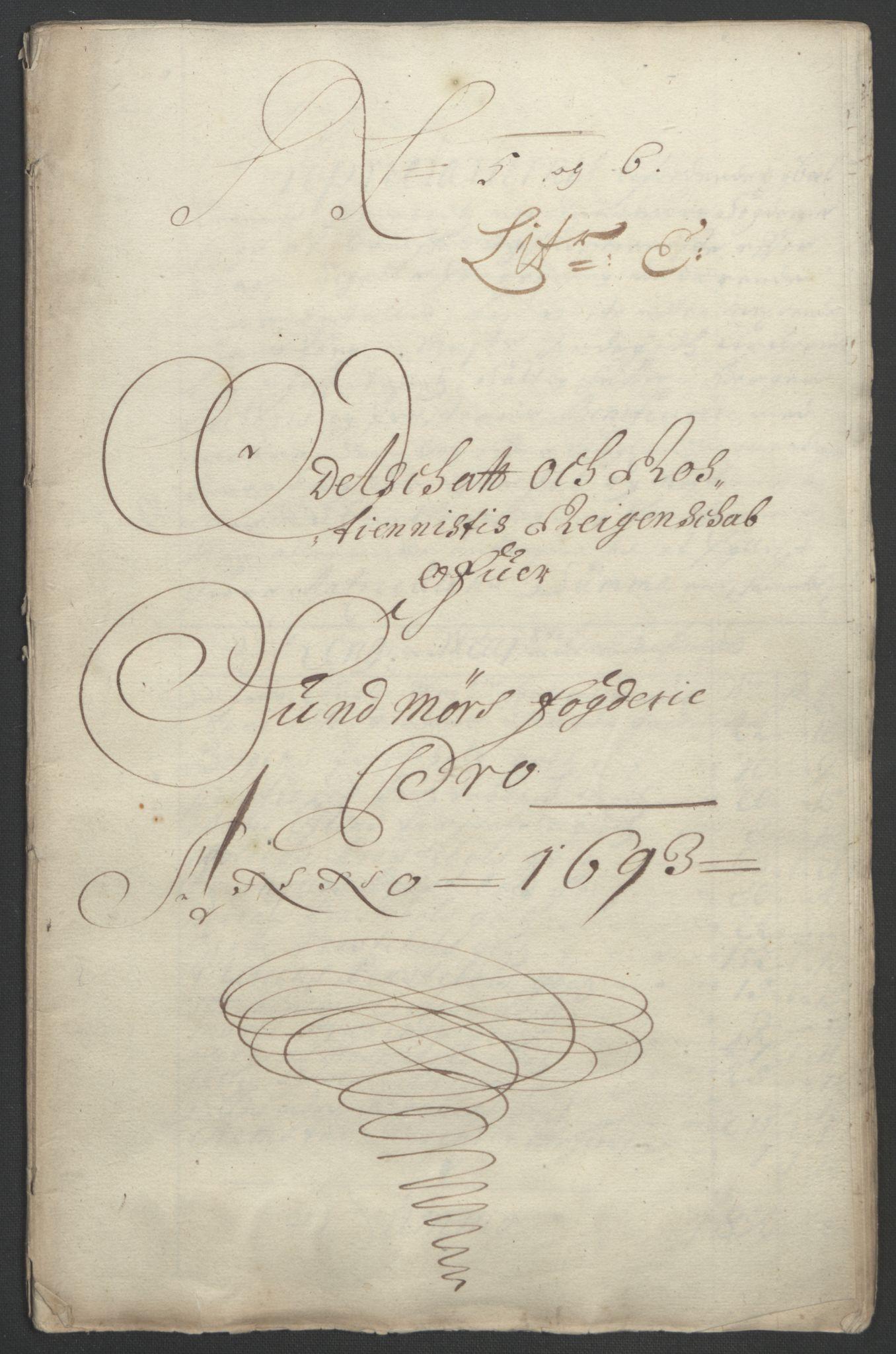 RA, Rentekammeret inntil 1814, Reviderte regnskaper, Fogderegnskap, R54/L3554: Fogderegnskap Sunnmøre, 1691-1693, s. 448
