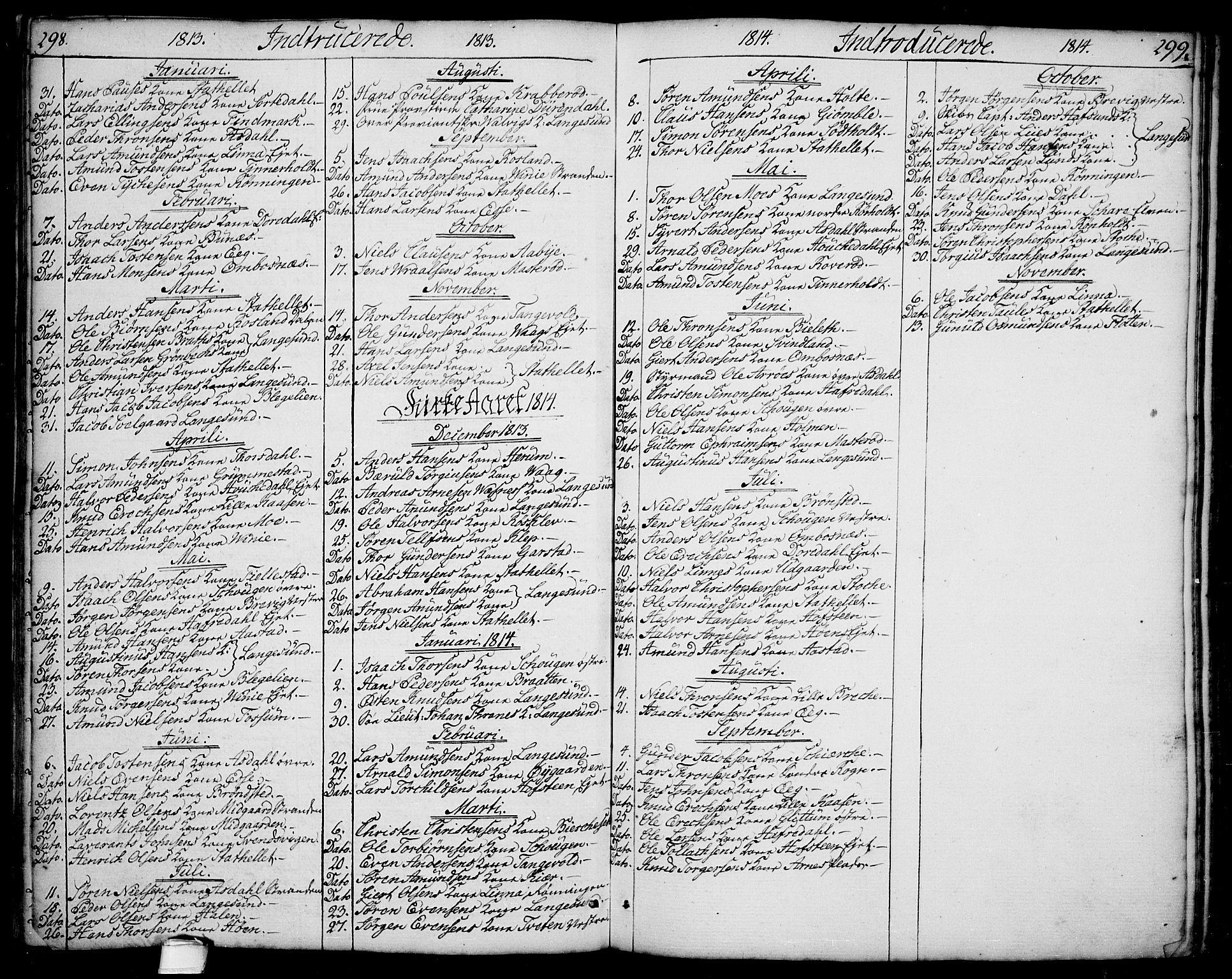 SAKO, Bamble kirkebøker, F/Fa/L0002: Ministerialbok nr. I 2, 1775-1814, s. 298-299