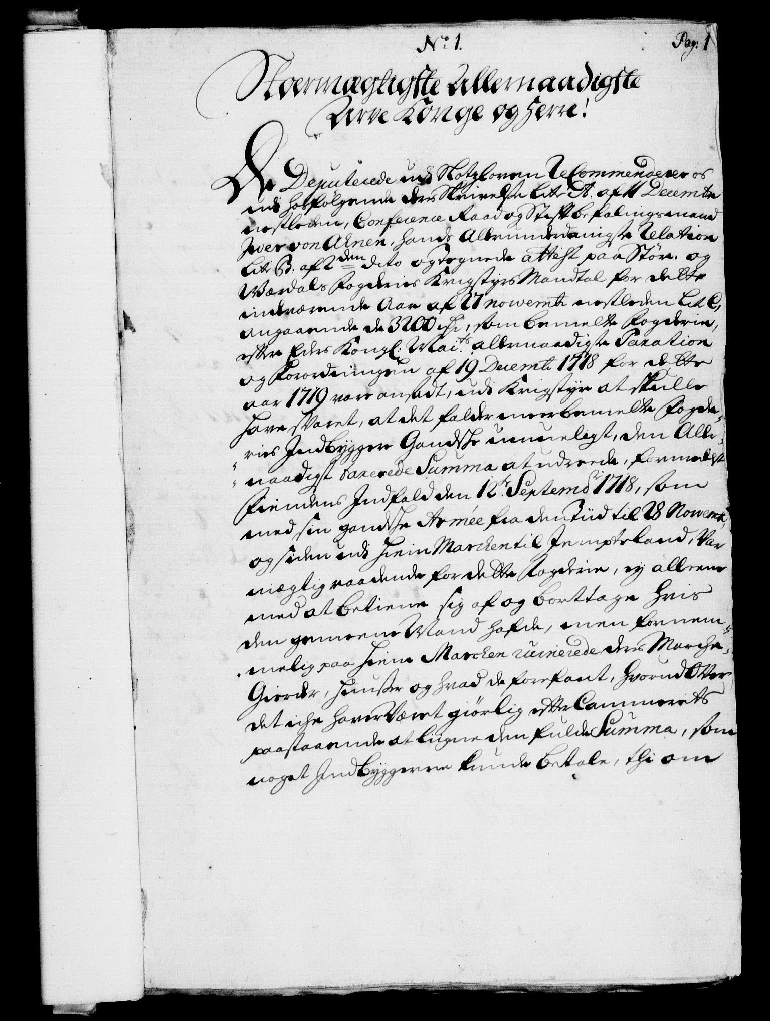 RA, Rentekammeret, Kammerkanselliet, G/Gf/Gfa/L0002: Norsk relasjons- og resolusjonsprotokoll (merket RK 52.2), 1720, s. 1