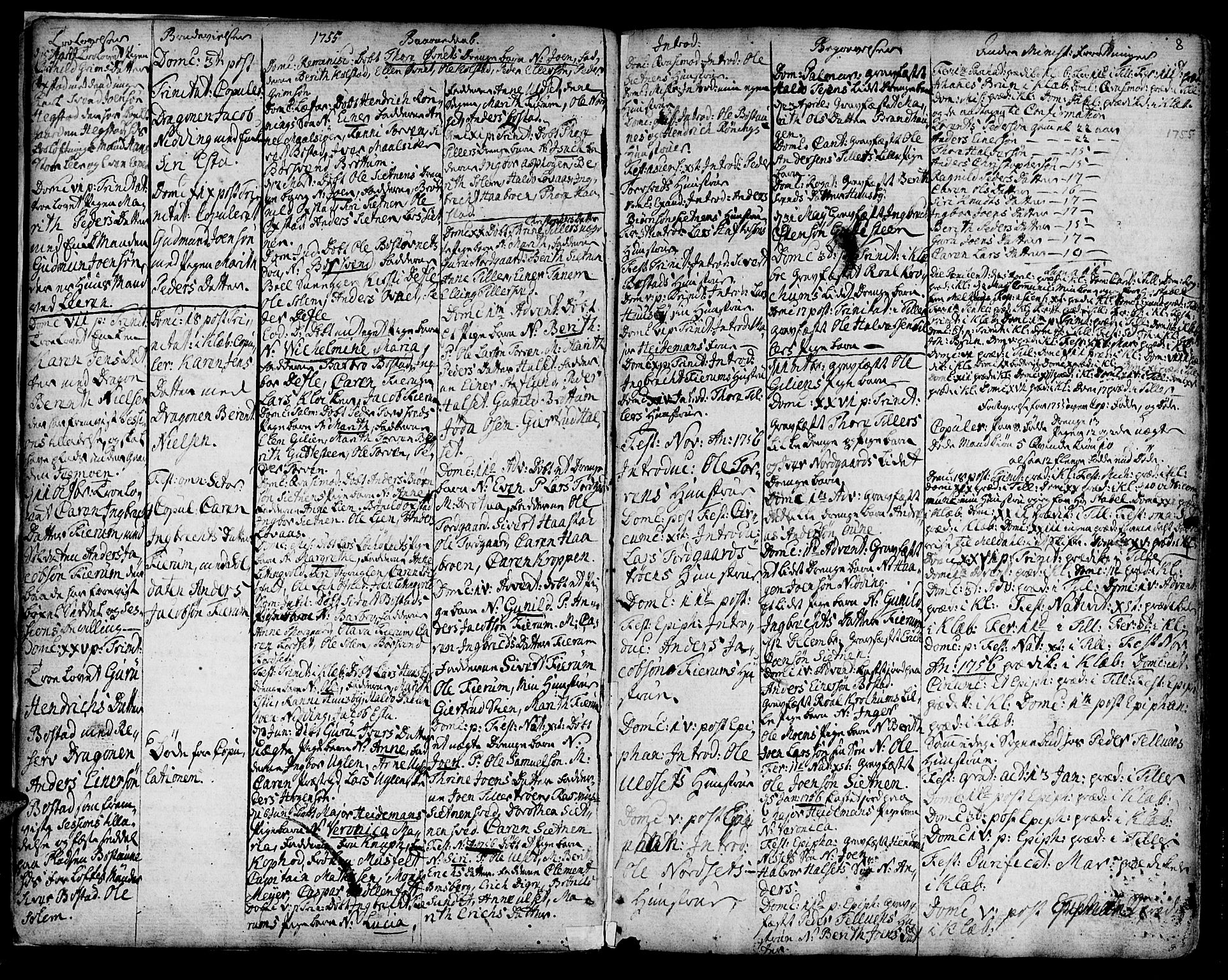 SAT, Ministerialprotokoller, klokkerbøker og fødselsregistre - Sør-Trøndelag, 618/L0437: Ministerialbok nr. 618A02, 1749-1782, s. 8