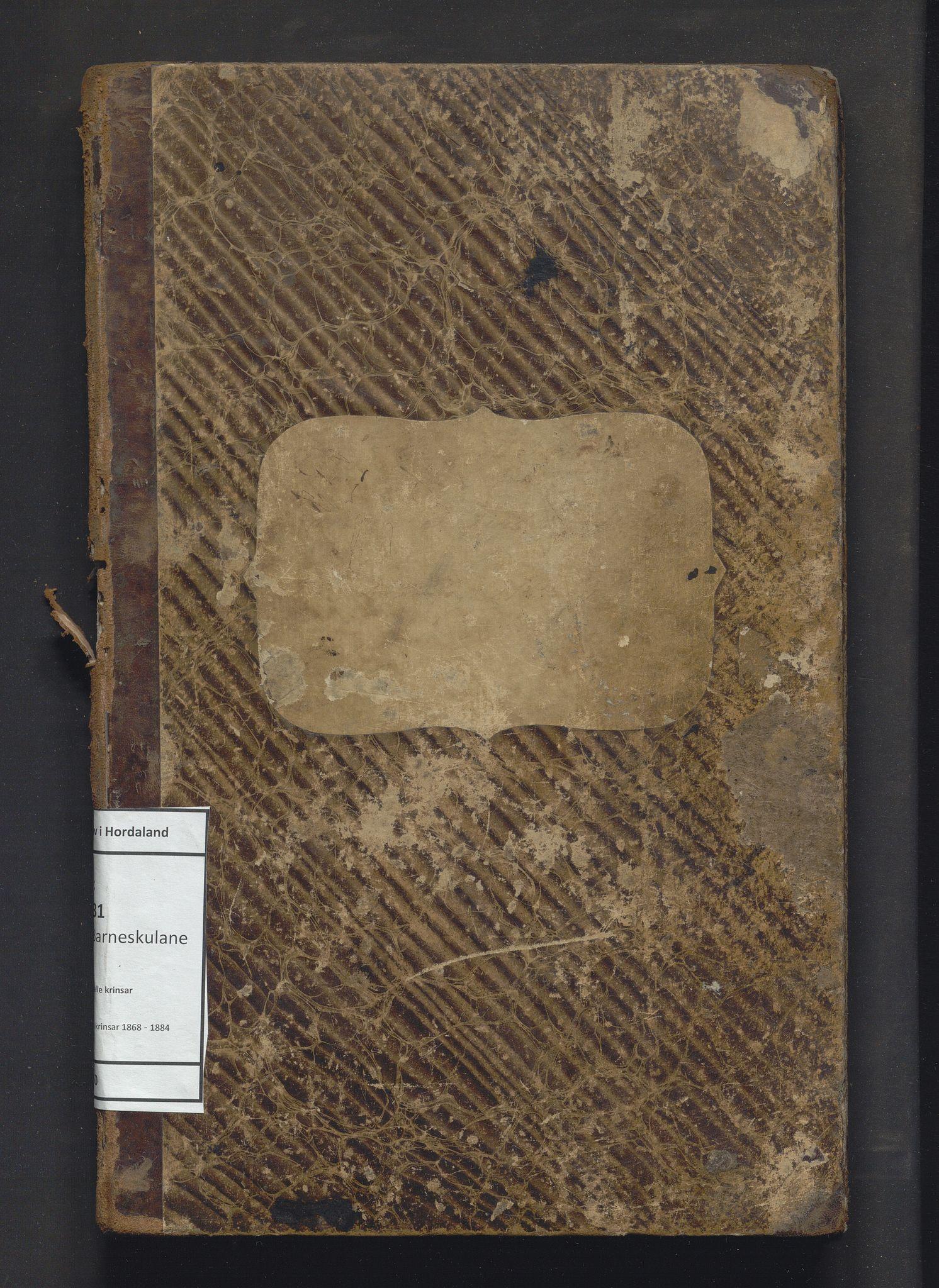 IKAH, Lindås kommune. Barneskulane, F/Fa/L0050: Skuleprotokoll for Myking og Natås krinsar, 1868-1884