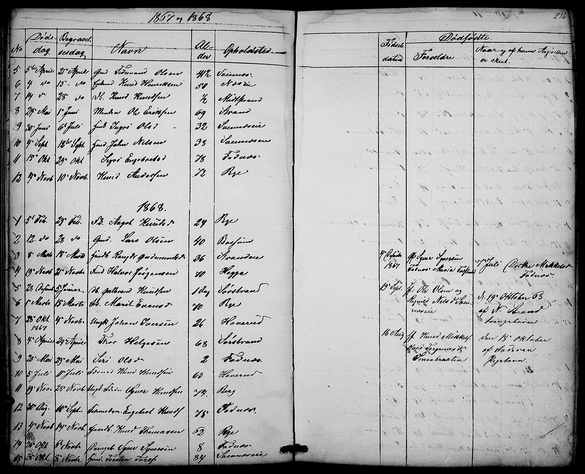 SAH, Nord-Aurdal prestekontor, Klokkerbok nr. 3, 1842-1882, s. 236