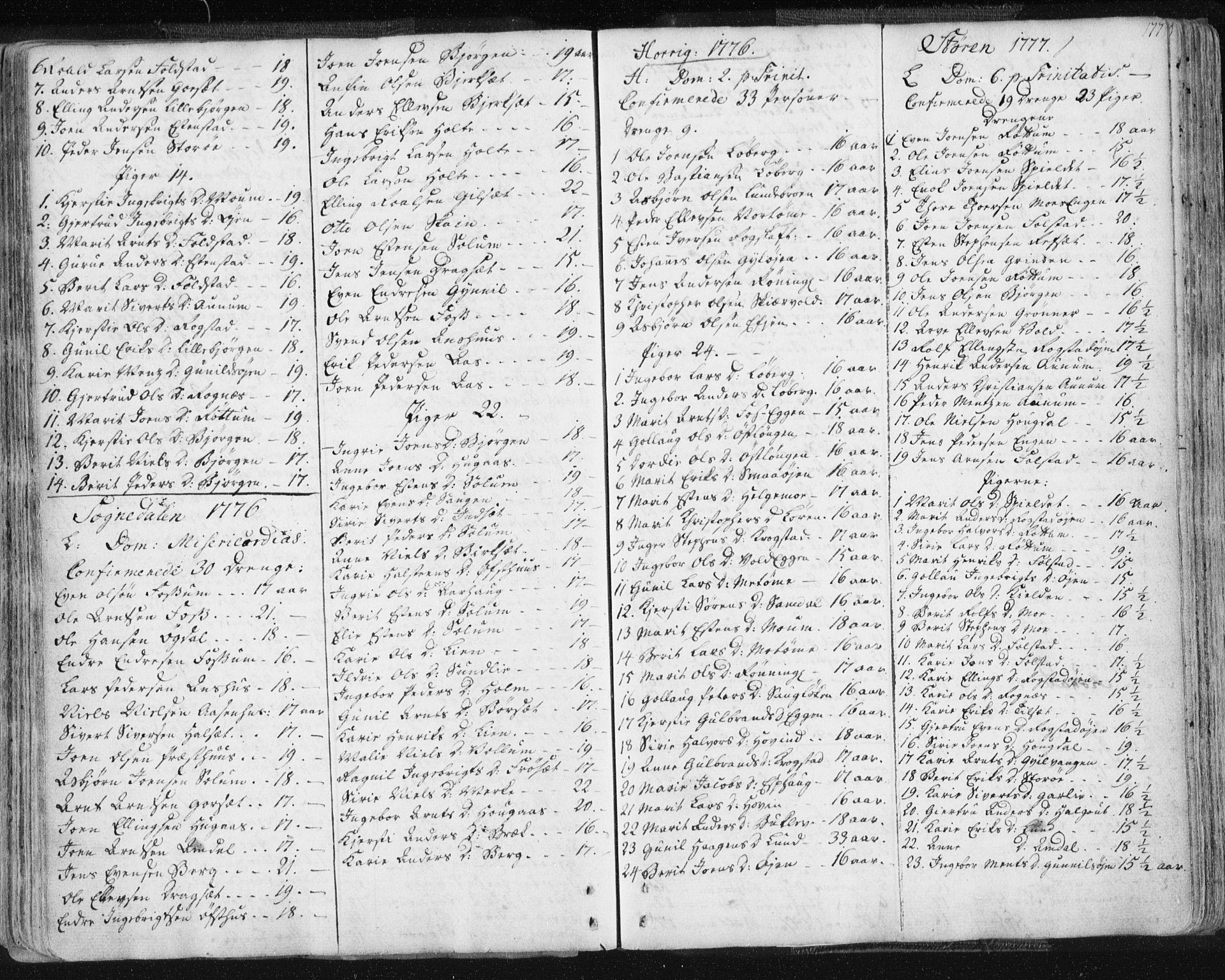SAT, Ministerialprotokoller, klokkerbøker og fødselsregistre - Sør-Trøndelag, 687/L0991: Ministerialbok nr. 687A02, 1747-1790, s. 177