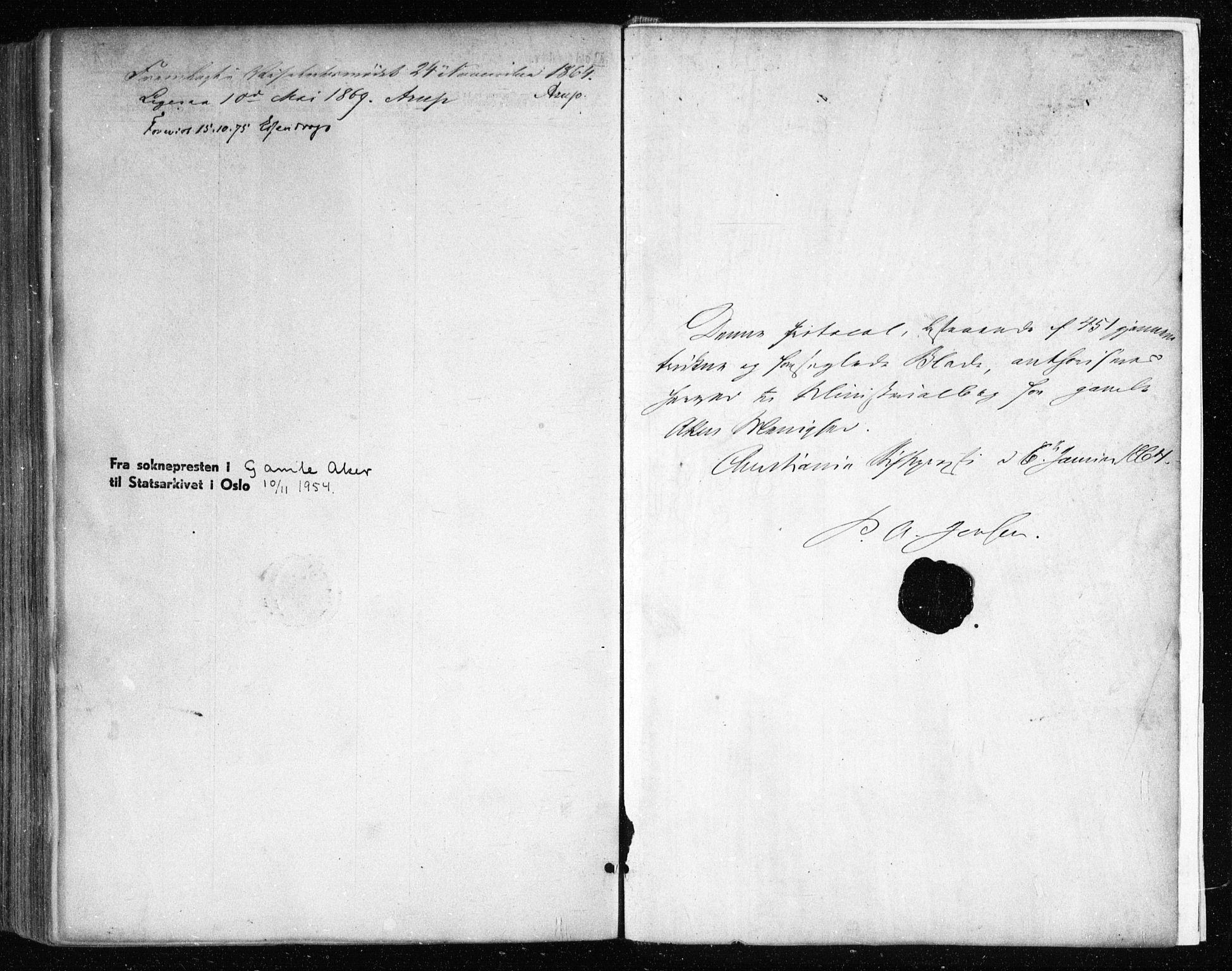 SAO, Gamle Aker prestekontor Kirkebøker, F/L0002: Ministerialbok nr. 2, 1864-1872