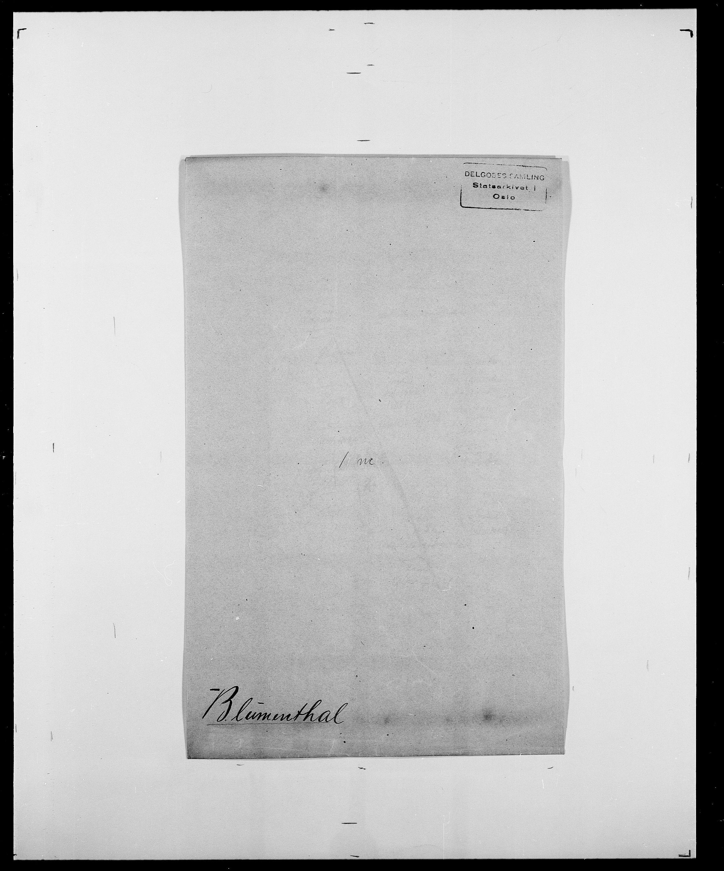 SAO, Delgobe, Charles Antoine - samling, D/Da/L0004: Bergendahl - Blære, s. 793