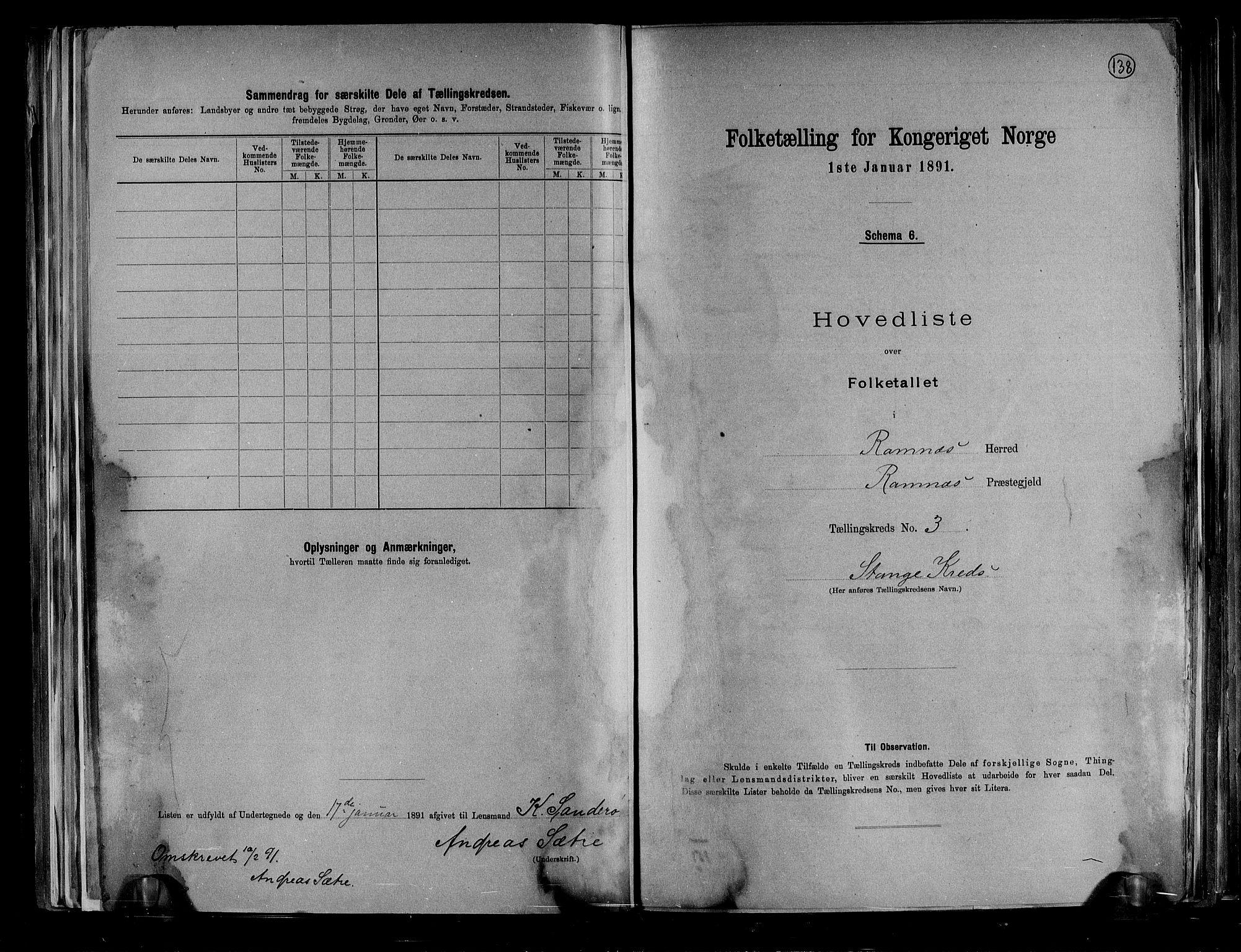 RA, Folketelling 1891 for 0718 Ramnes herred, 1891, s. 12