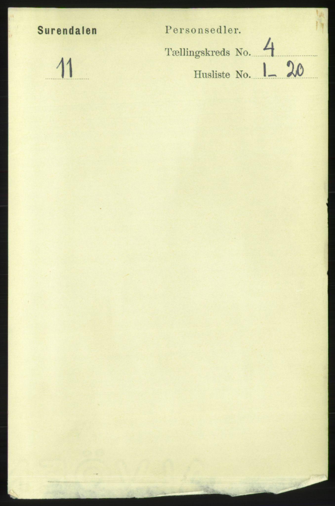 RA, Folketelling 1891 for 1566 Surnadal herred, 1891, s. 1062