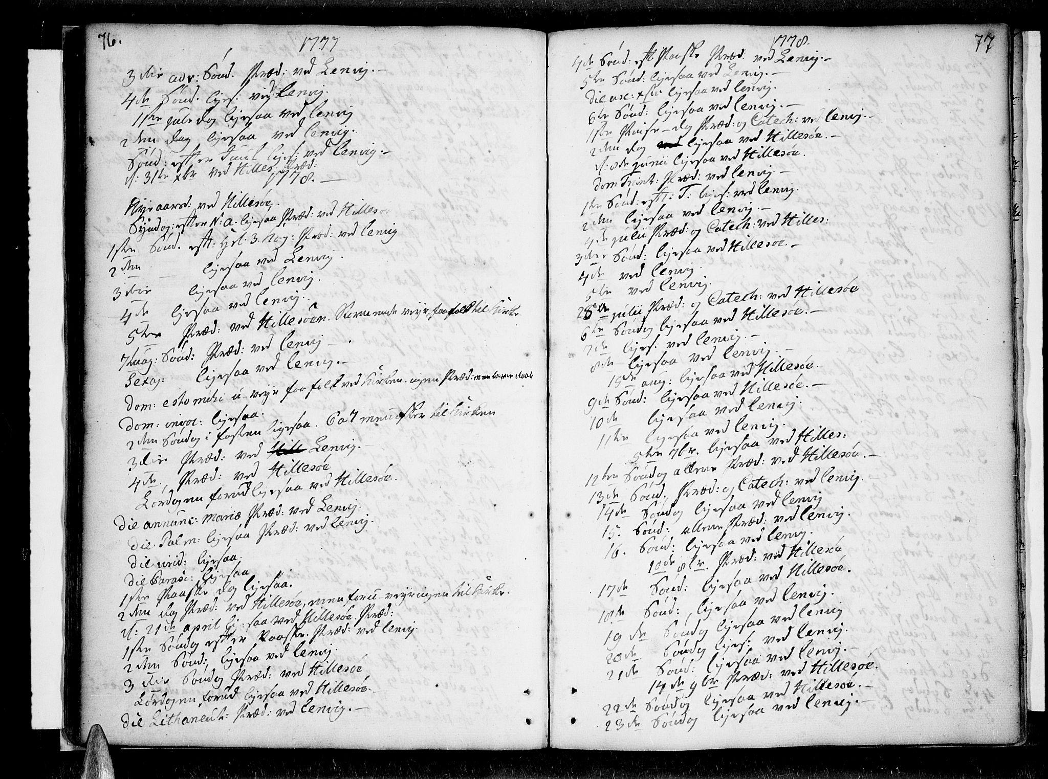 SATØ, Lenvik sokneprestembete, H/Ha: Ministerialbok nr. 1, 1753-1783, s. 76-77