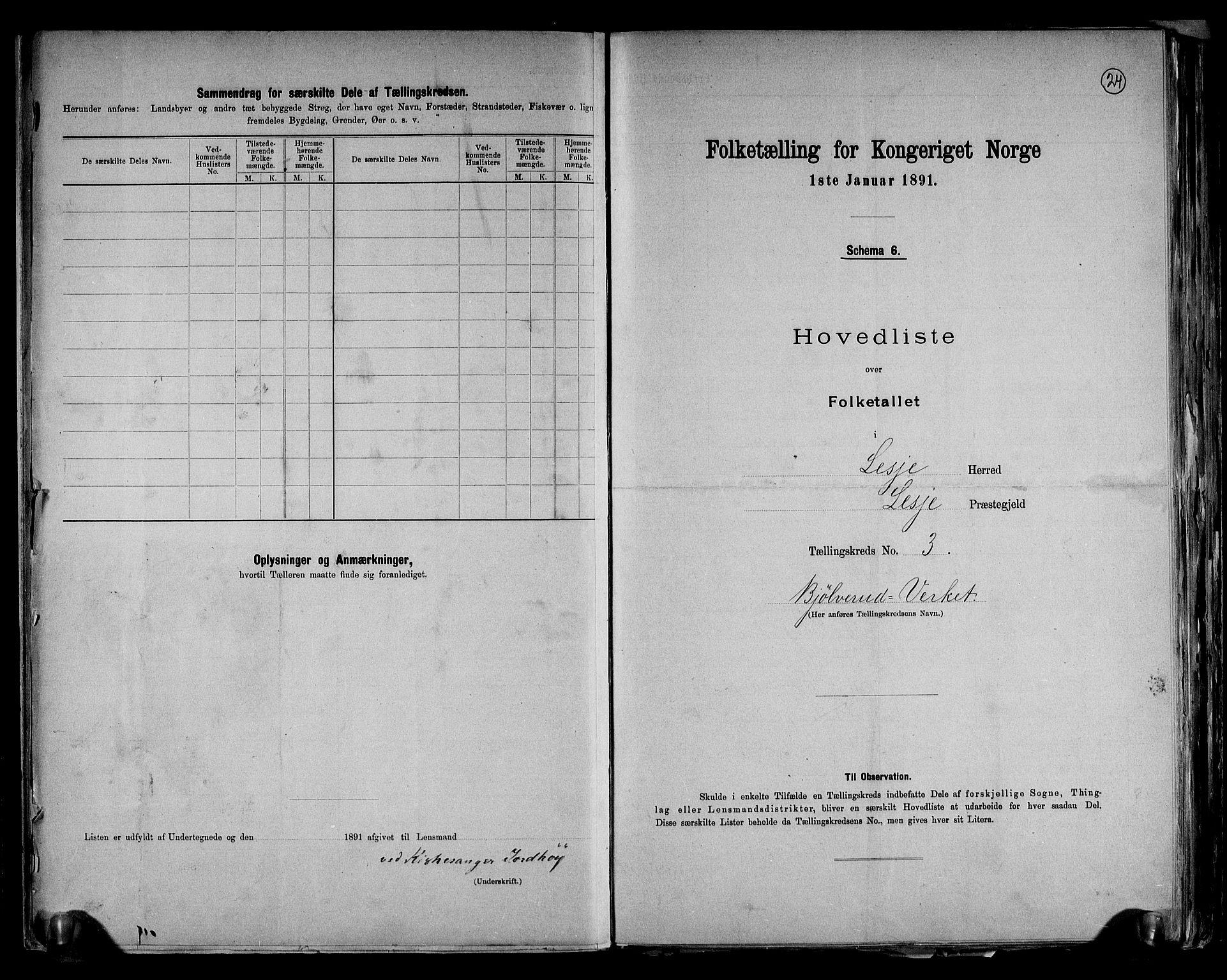 RA, Folketelling 1891 for 0512 Lesja herred, 1891, s. 9