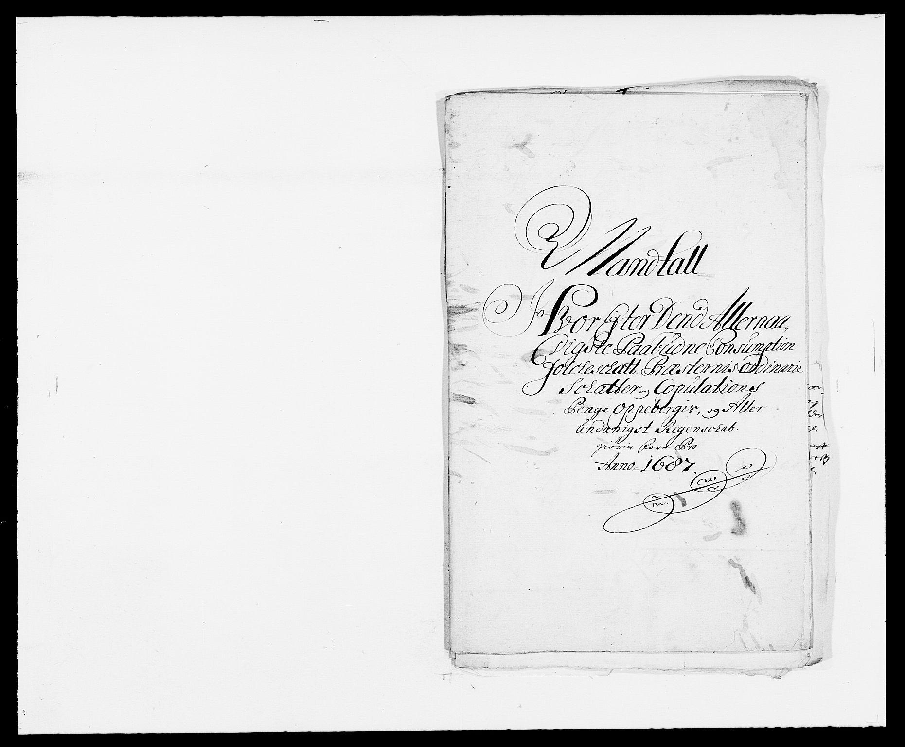 RA, Rentekammeret inntil 1814, Reviderte regnskaper, Fogderegnskap, R34/L2049: Fogderegnskap Bamble, 1685-1687, s. 306