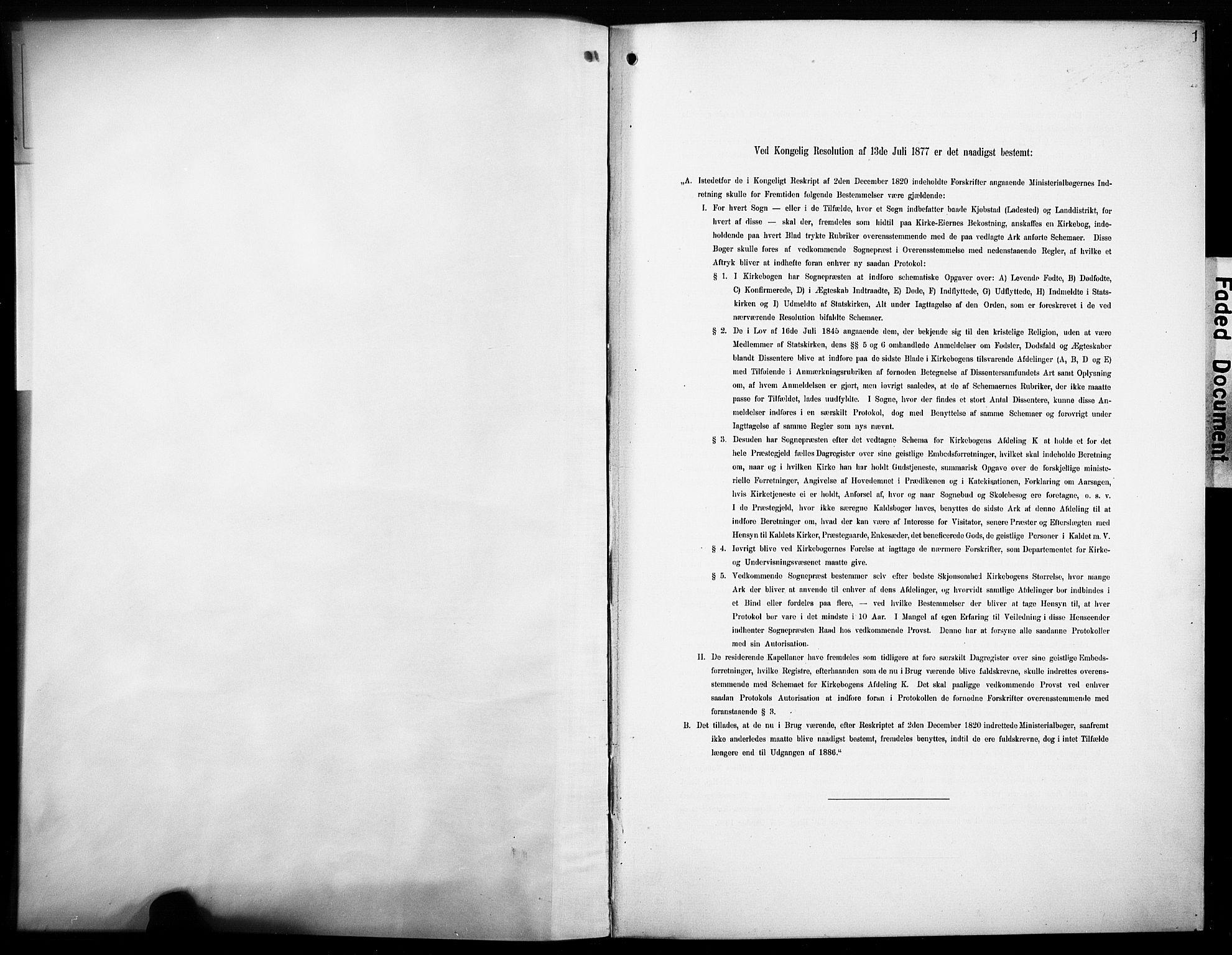 SAH, Øyer prestekontor, Ministerialbok nr. 10, 1906-1919, s. 1