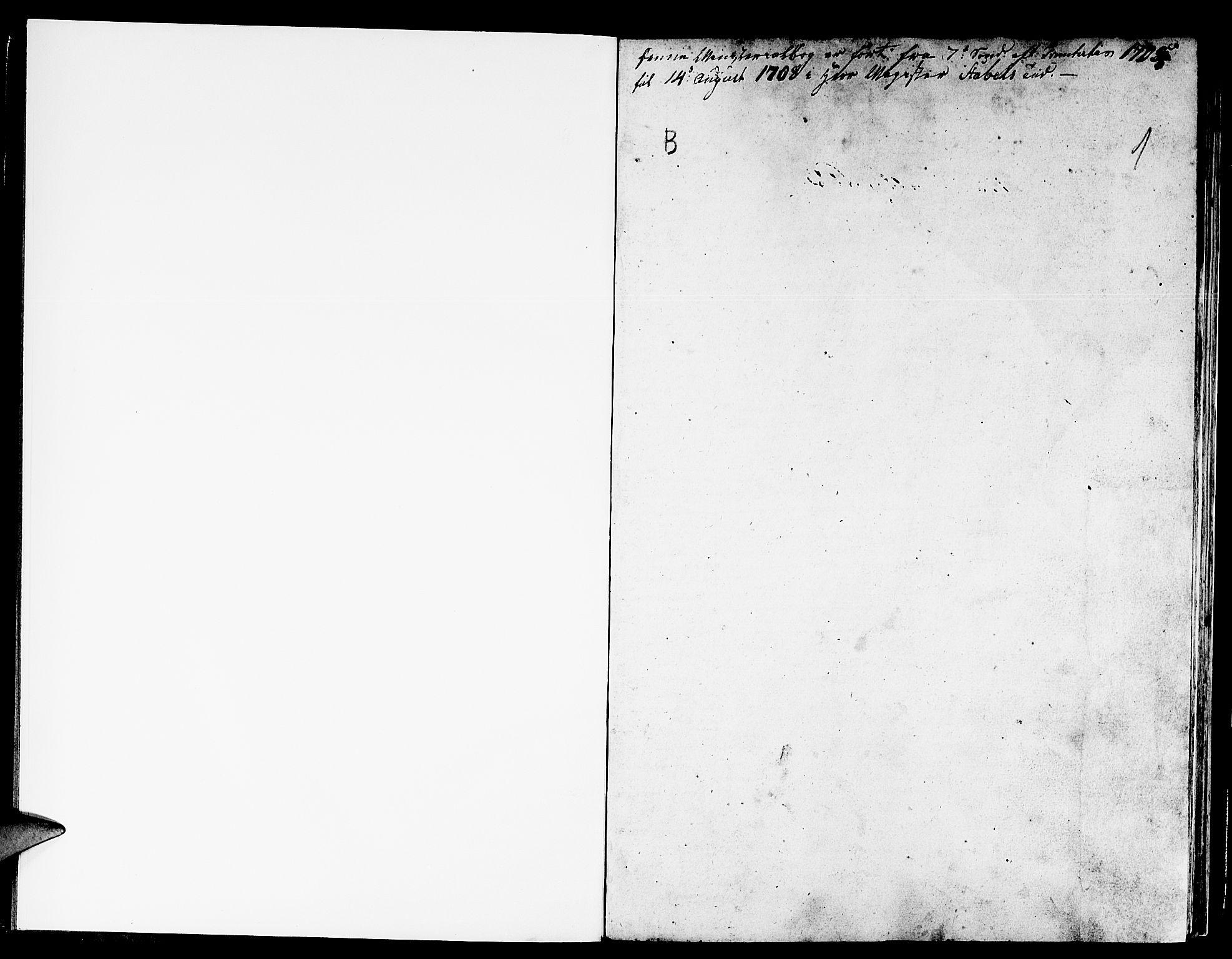SAB, Gulen Sokneprestembete, Ministerialbok nr. A 4, 1705-1708, s. 1