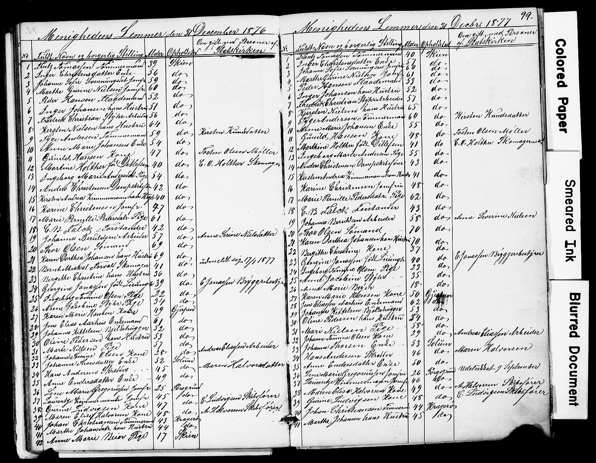 SAKO, Den frie apostolisk-kristelige menighet i Skien, F/Fa/L0001: Dissenterprotokoll nr. 1, 1856-1892, s. 99
