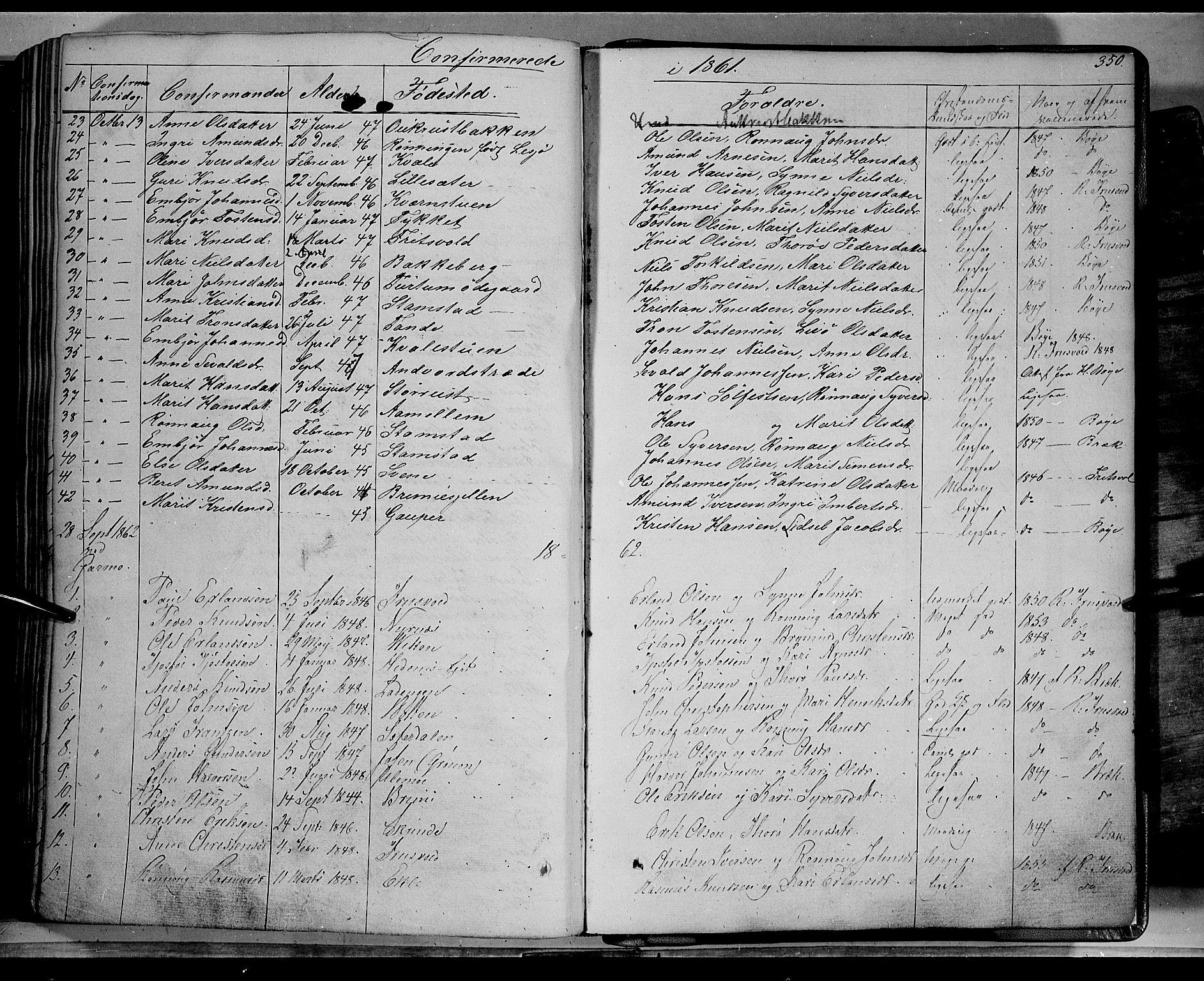 SAH, Lom prestekontor, K/L0006: Ministerialbok nr. 6A, 1837-1863, s. 350