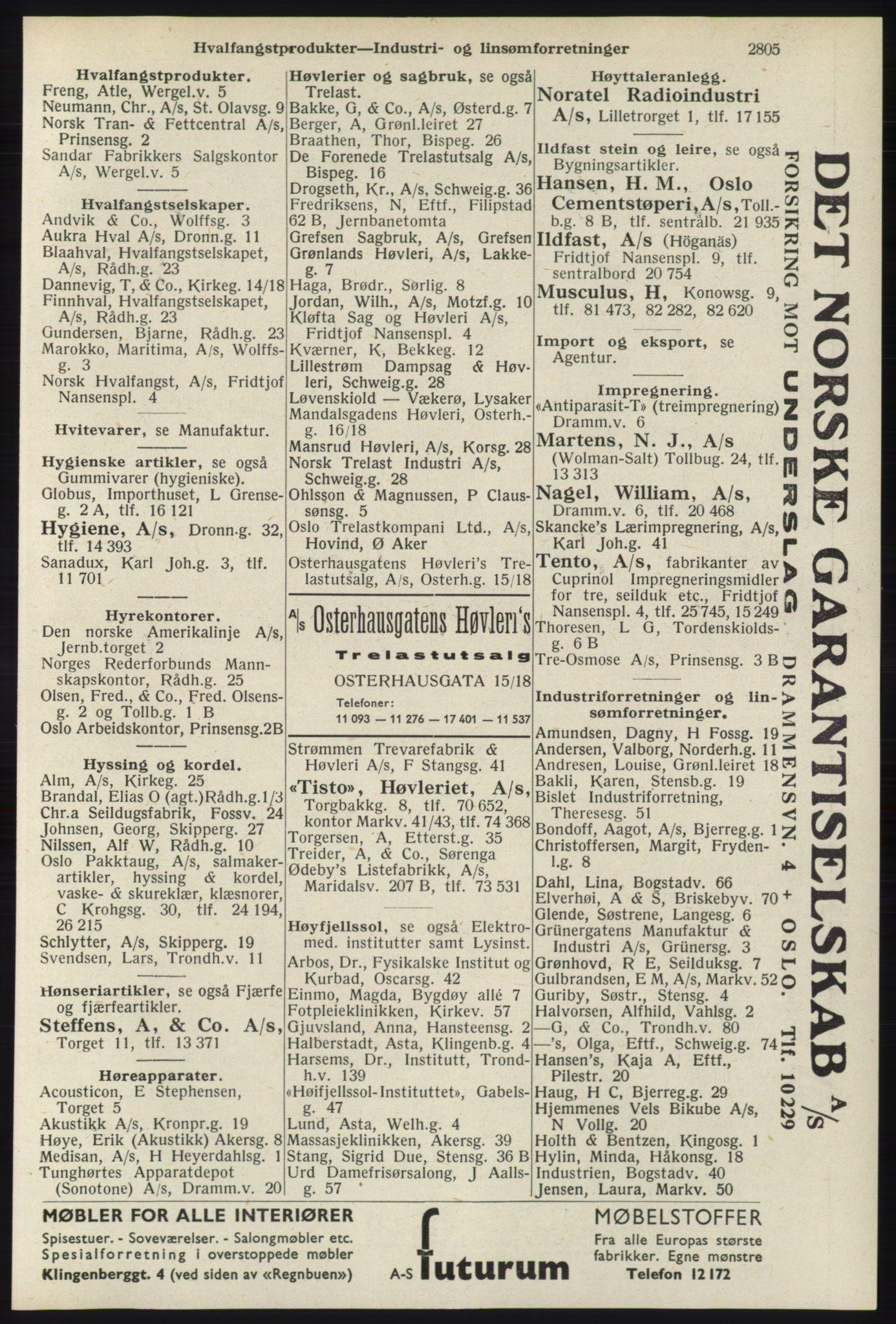 RA, Oslo adressebok (publikasjon)*, 1940, s. 2805