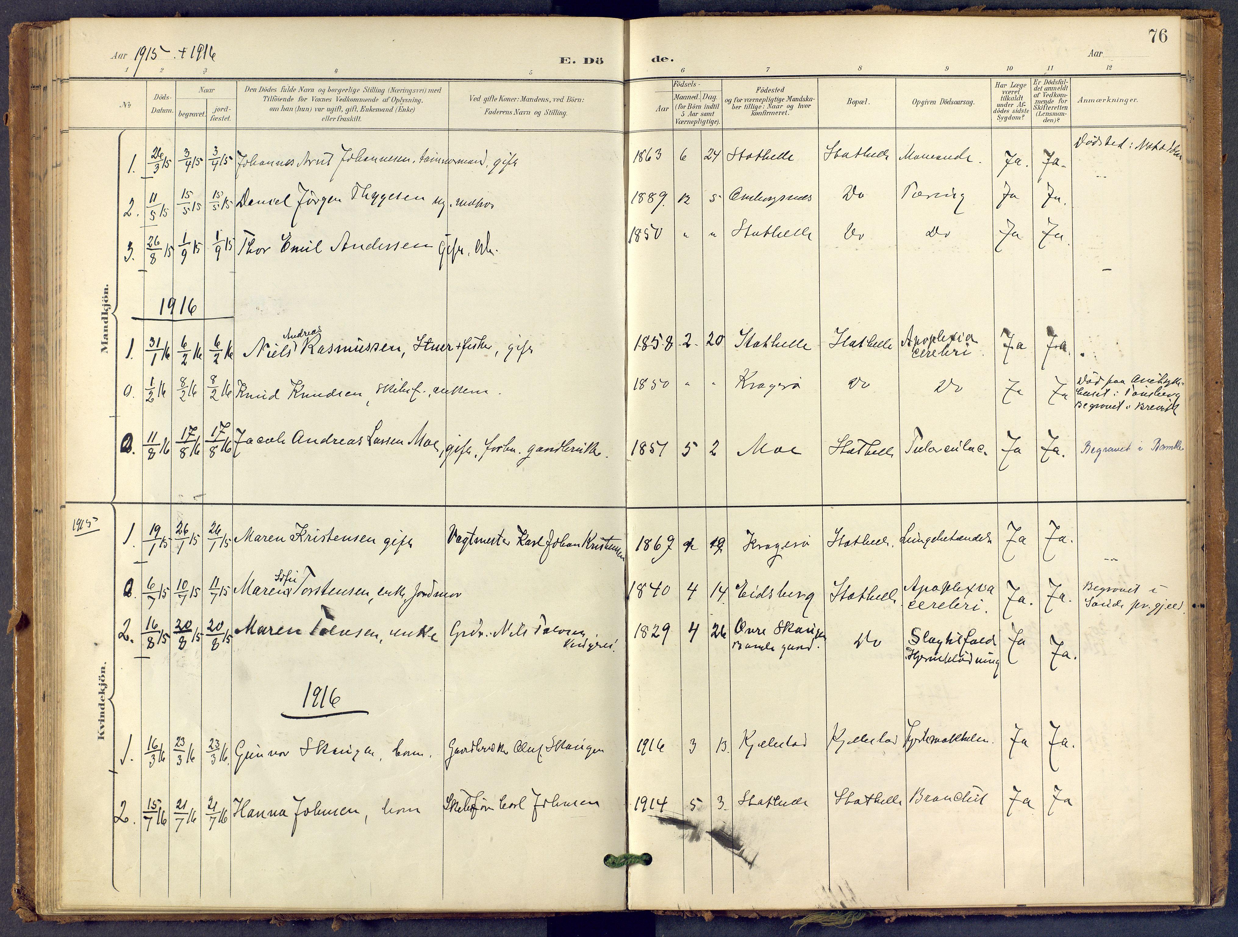 SAKO, Bamble kirkebøker, F/Fb/L0002: Ministerialbok nr. II 2, 1900-1921, s. 76