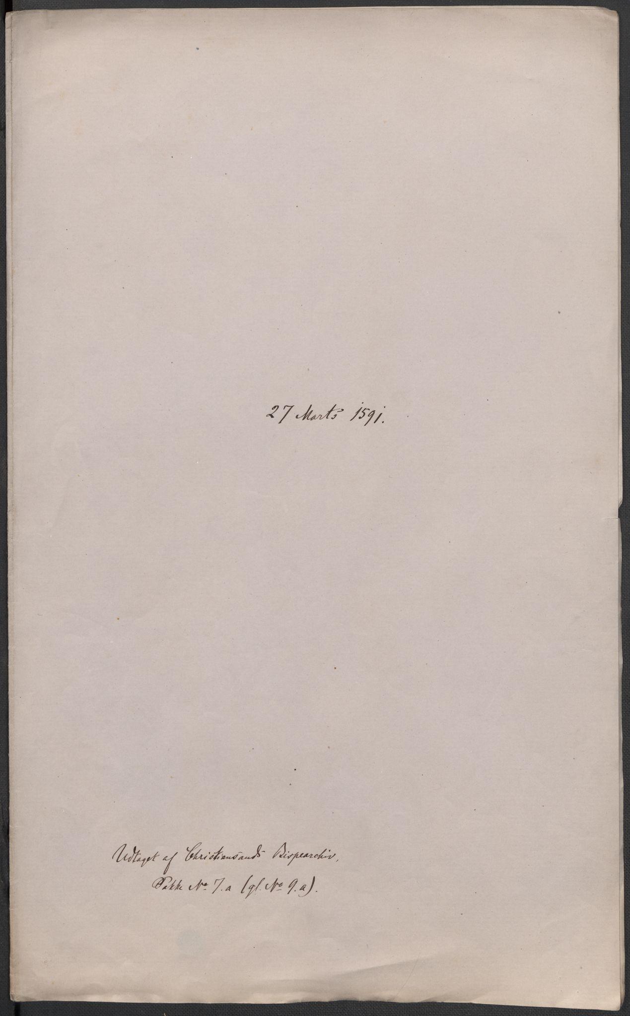 RA, Riksarkivets diplomsamling, F02/L0093: Dokumenter, 1591, s. 60
