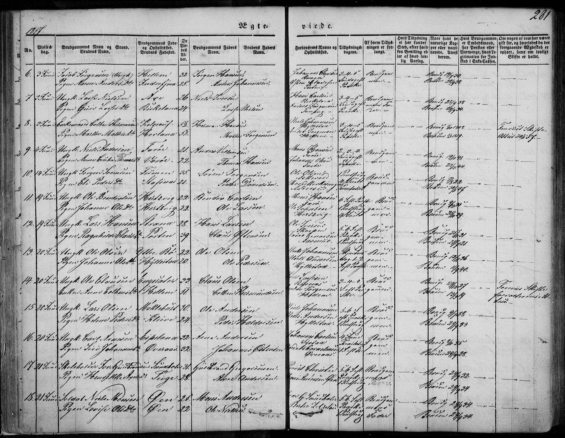 SAB, Askvoll Sokneprestembete, Ministerialbok nr. A 11 II, 1845-1878, s. 281