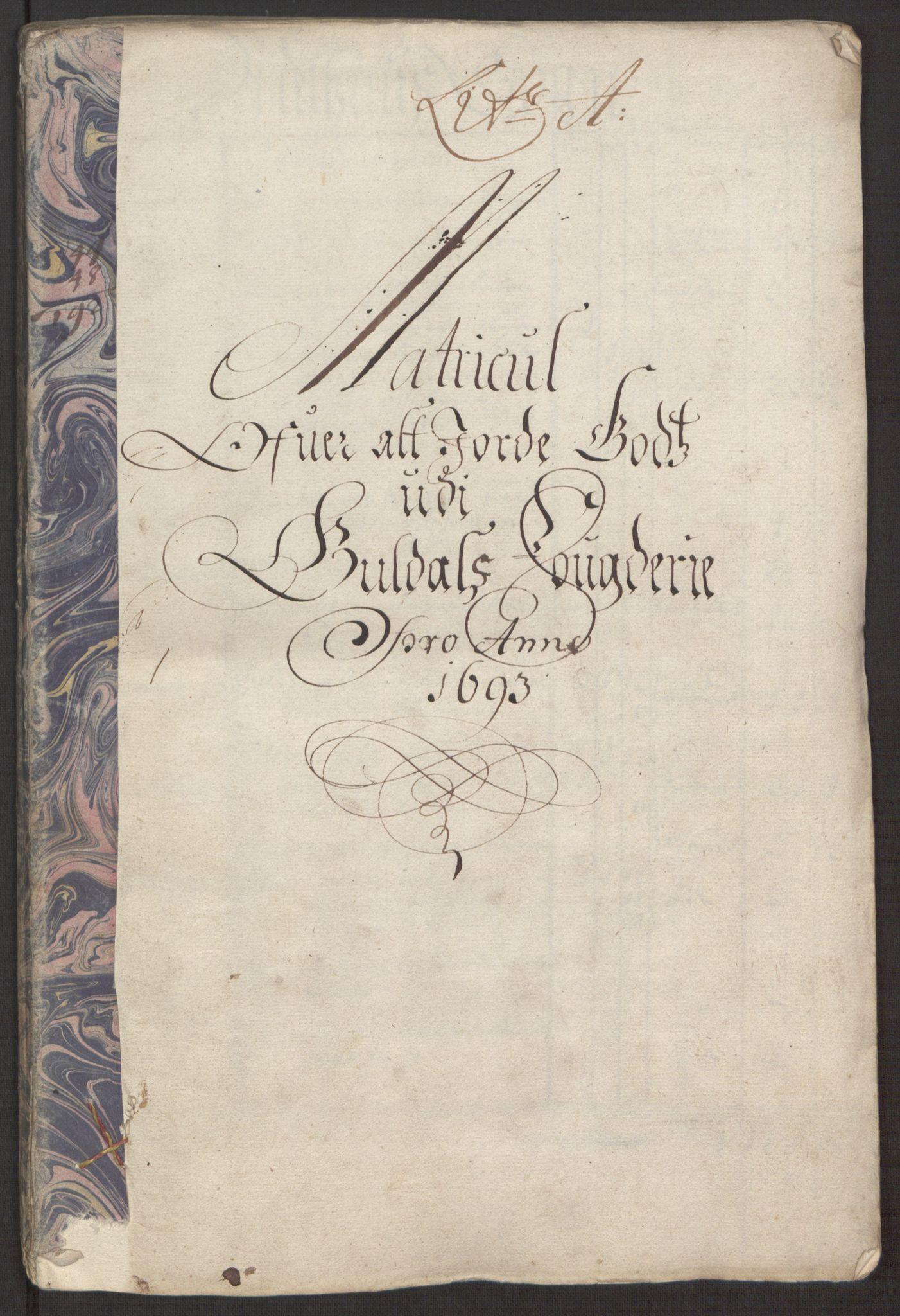 RA, Rentekammeret inntil 1814, Reviderte regnskaper, Fogderegnskap, R59/L3943: Fogderegnskap Gauldal, 1693, s. 34