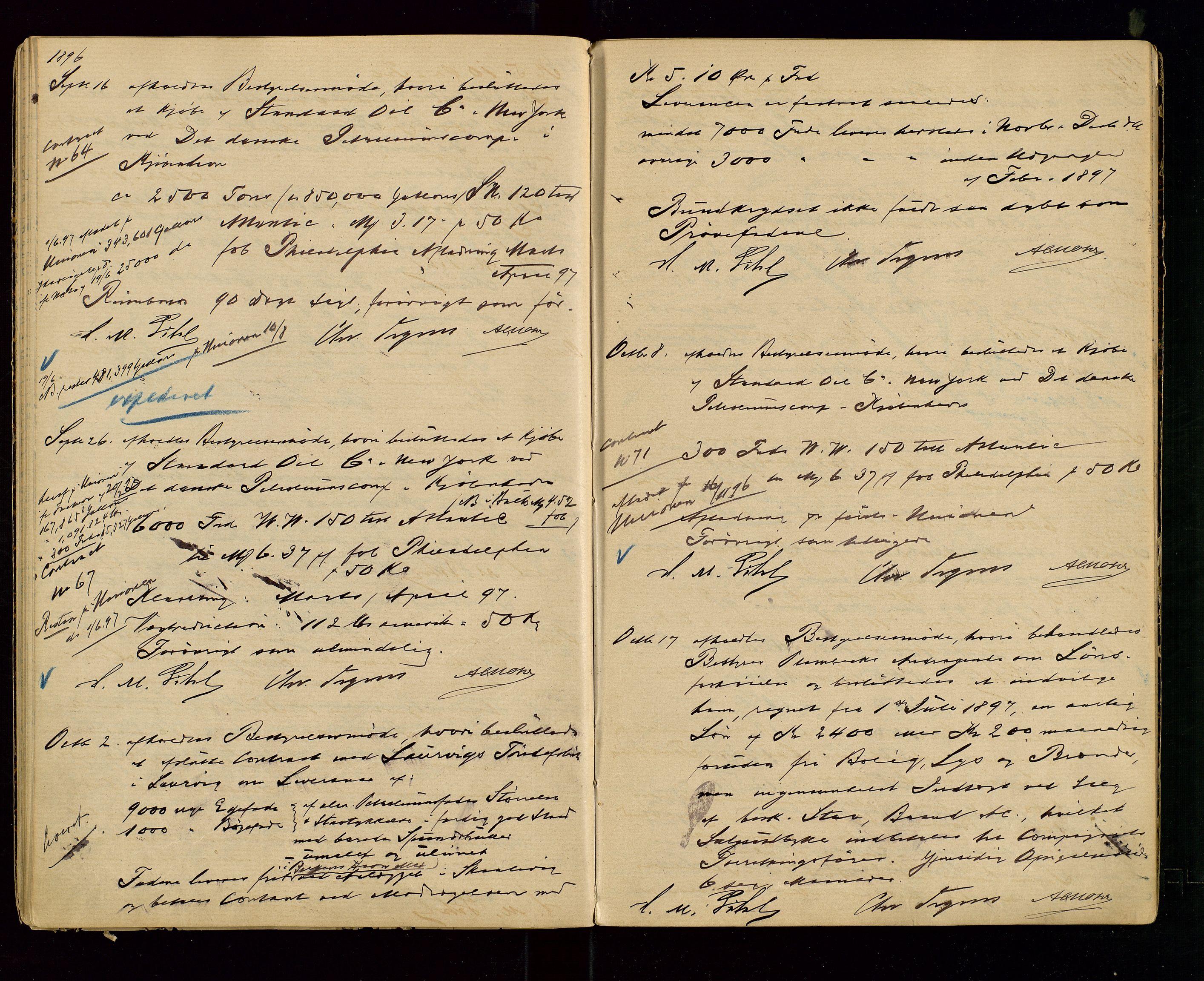 SAST, PA 1533 - A/S Vestlandske Petroleumscompani, A/Aa/L0001: Generalforsamlinger og styreprotokoller, 1890-1907, s. 28