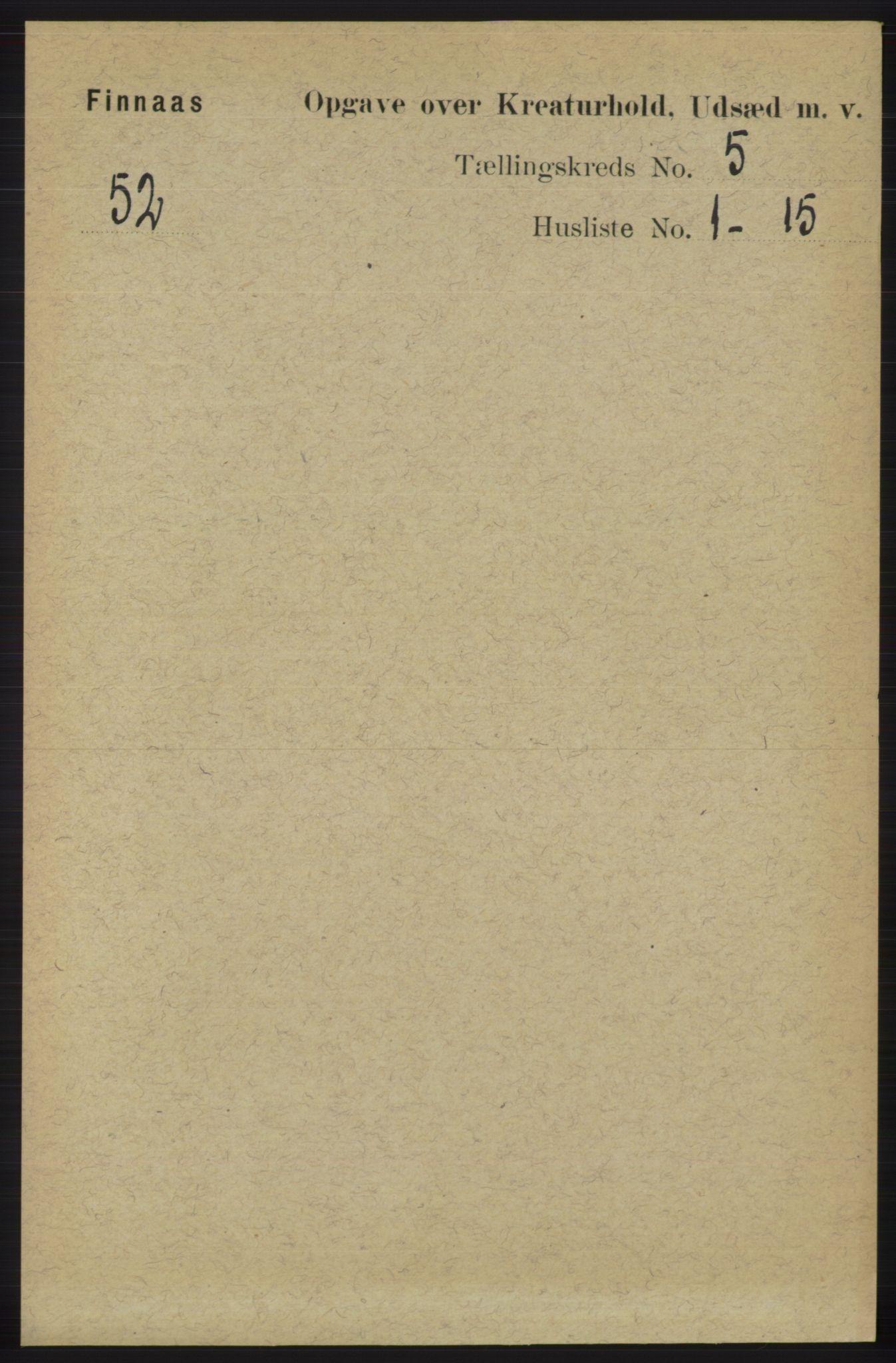 RA, Folketelling 1891 for 1218 Finnås herred, 1891, s. 6592