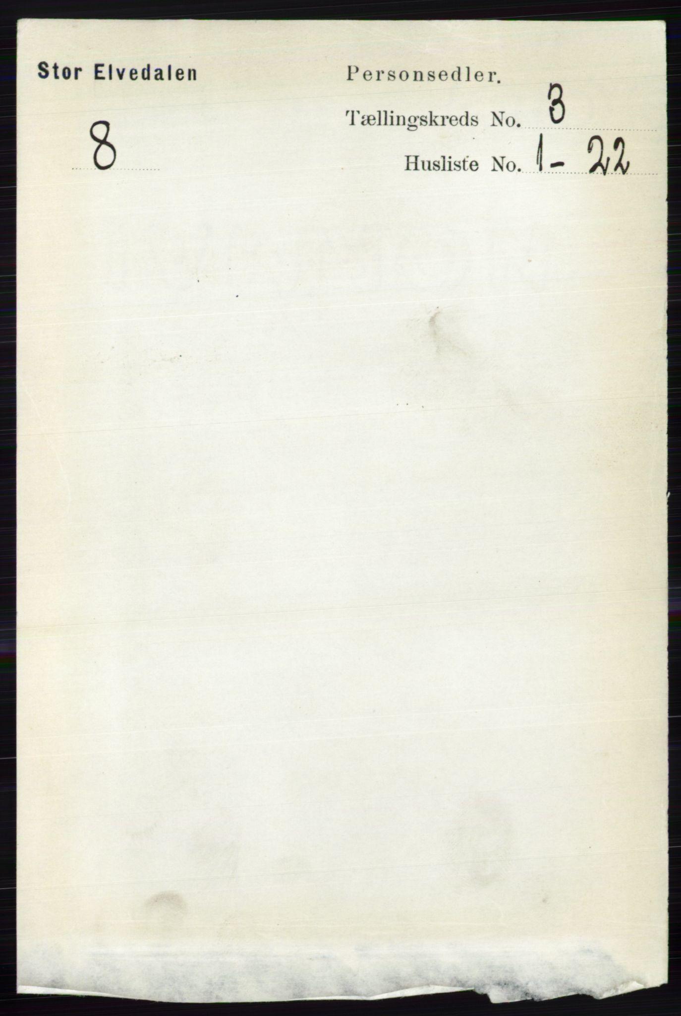 RA, Folketelling 1891 for 0430 Stor-Elvdal herred, 1891, s. 837