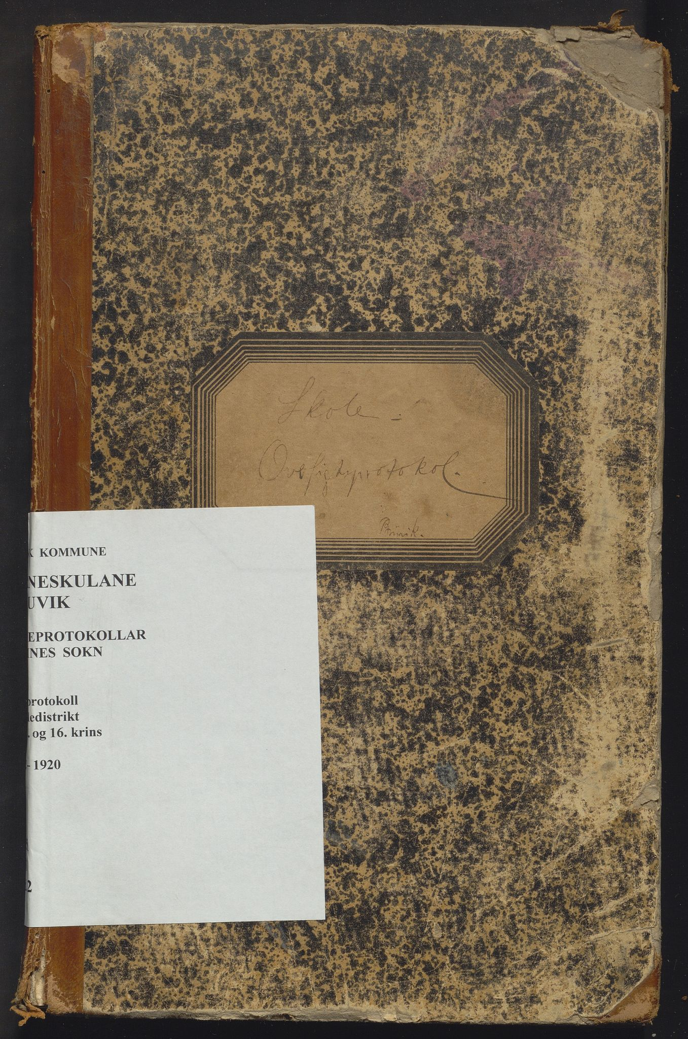 IKAH, Bruvik kommune. Barneskulane, F/Fd/L0002: Skuleprotokoll for Straume, Øye, Toskedal, Eidsfjorden, Furnes og Bolstadfjorden krinsar, 1892-1920