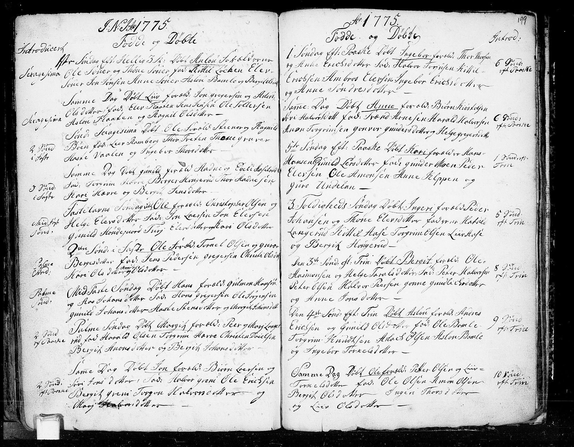 SAKO, Heddal kirkebøker, F/Fa/L0003: Ministerialbok nr. I 3, 1723-1783, s. 199