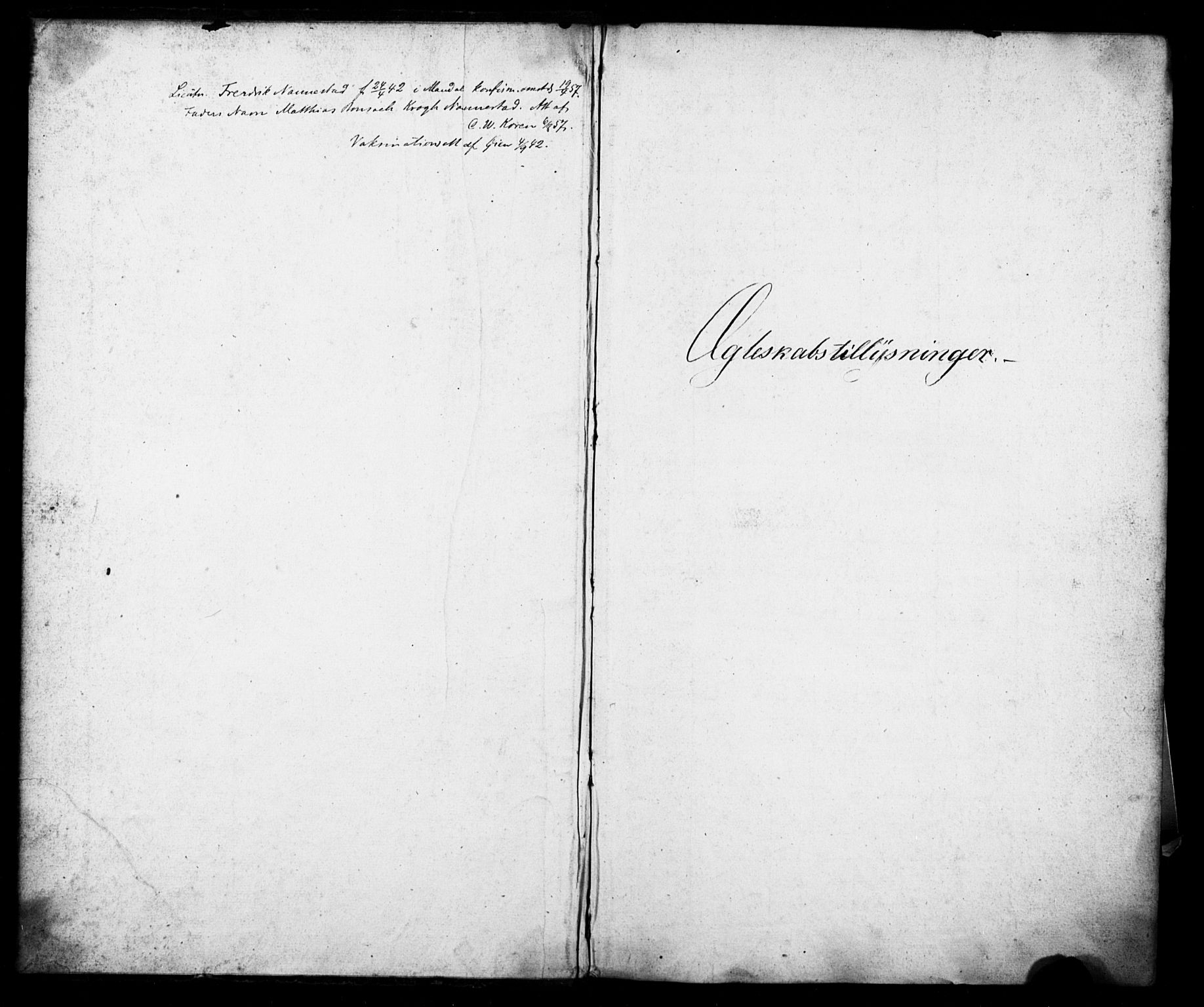 SATØ, Tromsø sokneprestkontor/stiftsprosti/domprosti, H/Hc/L0097: Lysningsprotokoll nr. 3, 1851-1872