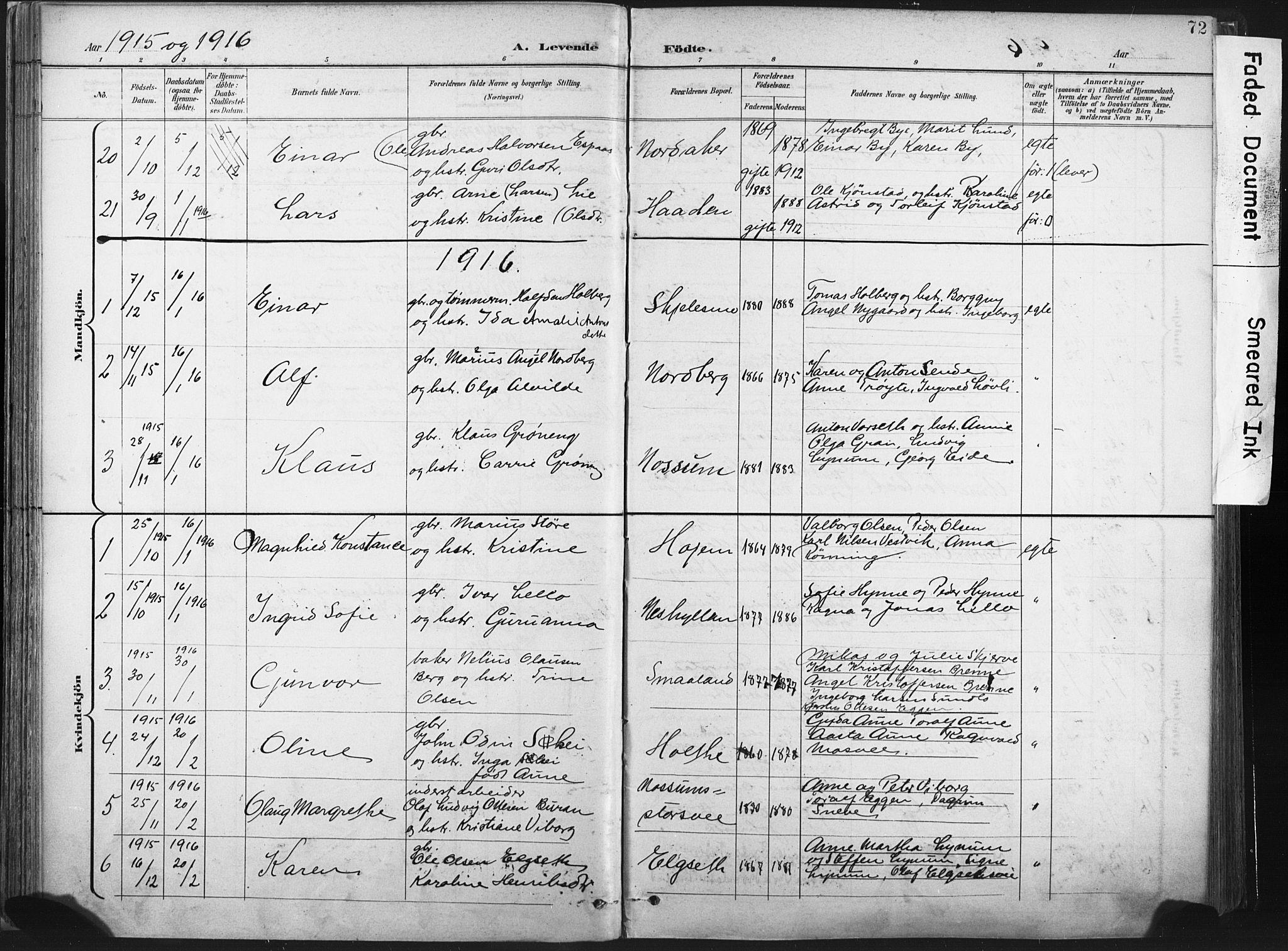 SAT, Ministerialprotokoller, klokkerbøker og fødselsregistre - Nord-Trøndelag, 717/L0162: Ministerialbok nr. 717A12, 1898-1923, s. 72
