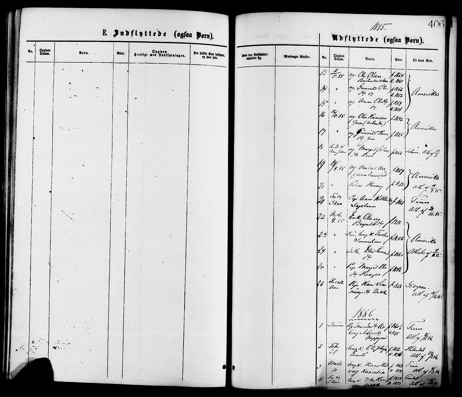 SAKO, Gransherad kirkebøker, F/Fa/L0004: Ministerialbok nr. I 4, 1871-1886, s. 406