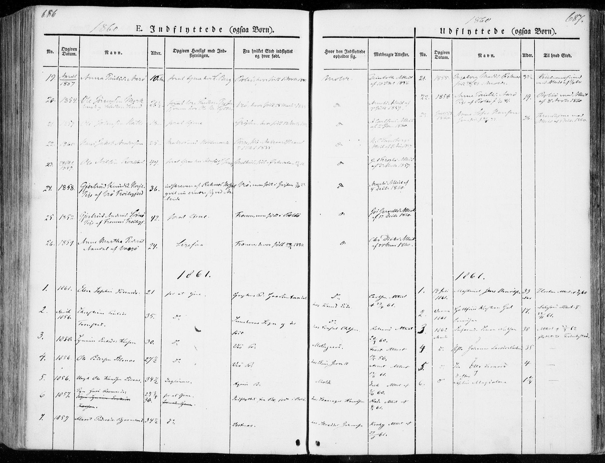 SAT, Ministerialprotokoller, klokkerbøker og fødselsregistre - Møre og Romsdal, 558/L0689: Ministerialbok nr. 558A03, 1843-1872, s. 686-687