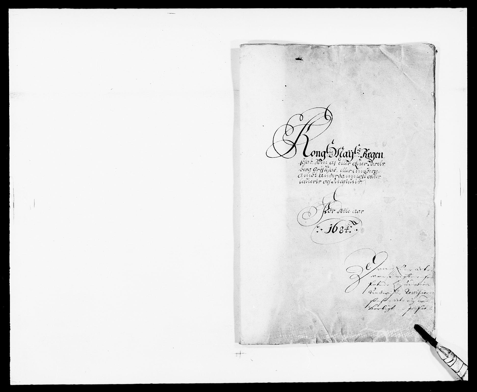 RA, Rentekammeret inntil 1814, Reviderte regnskaper, Fogderegnskap, R32/L1854: Fogderegnskap Jarlsberg grevskap, 1684, s. 1