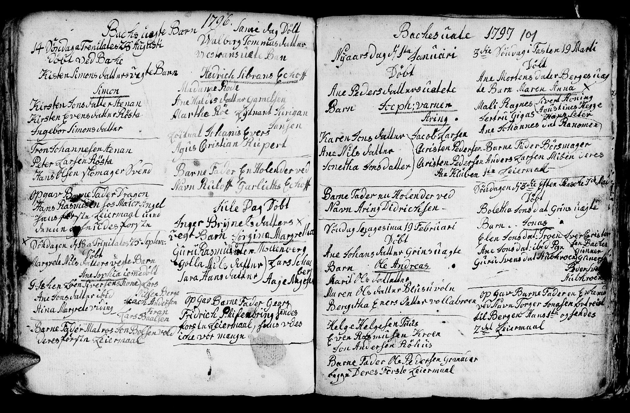 SAT, Ministerialprotokoller, klokkerbøker og fødselsregistre - Sør-Trøndelag, 604/L0218: Klokkerbok nr. 604C01, 1754-1819, s. 101