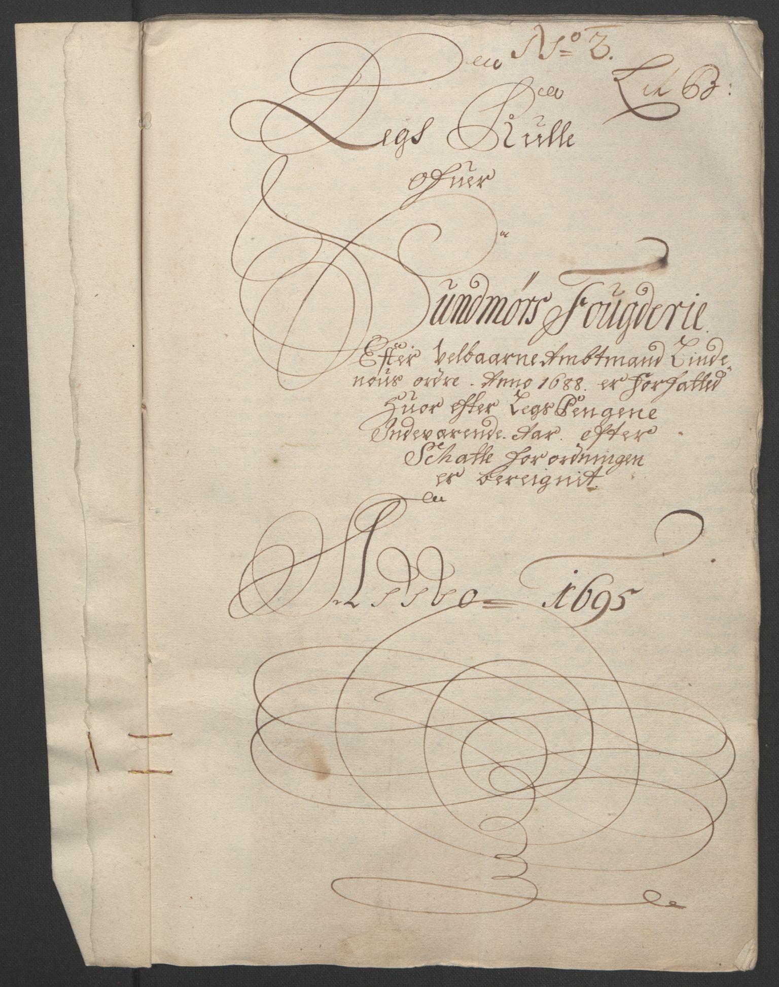 RA, Rentekammeret inntil 1814, Reviderte regnskaper, Fogderegnskap, R54/L3555: Fogderegnskap Sunnmøre, 1694-1695, s. 209