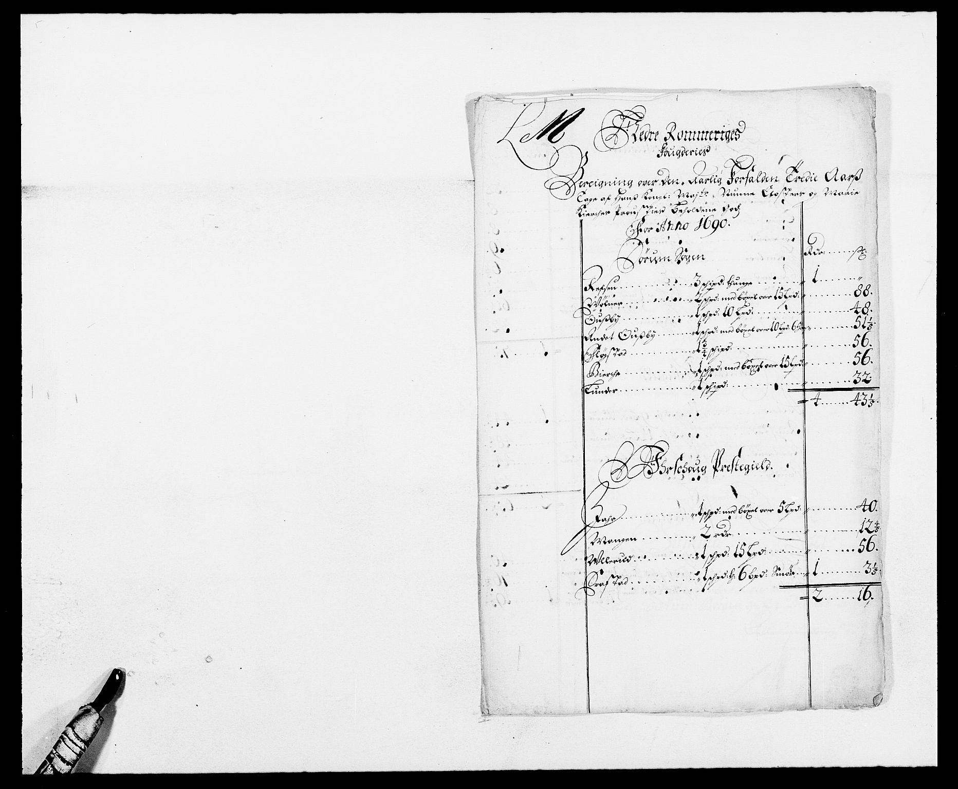 RA, Rentekammeret inntil 1814, Reviderte regnskaper, Fogderegnskap, R11/L0574: Fogderegnskap Nedre Romerike, 1689-1690, s. 253