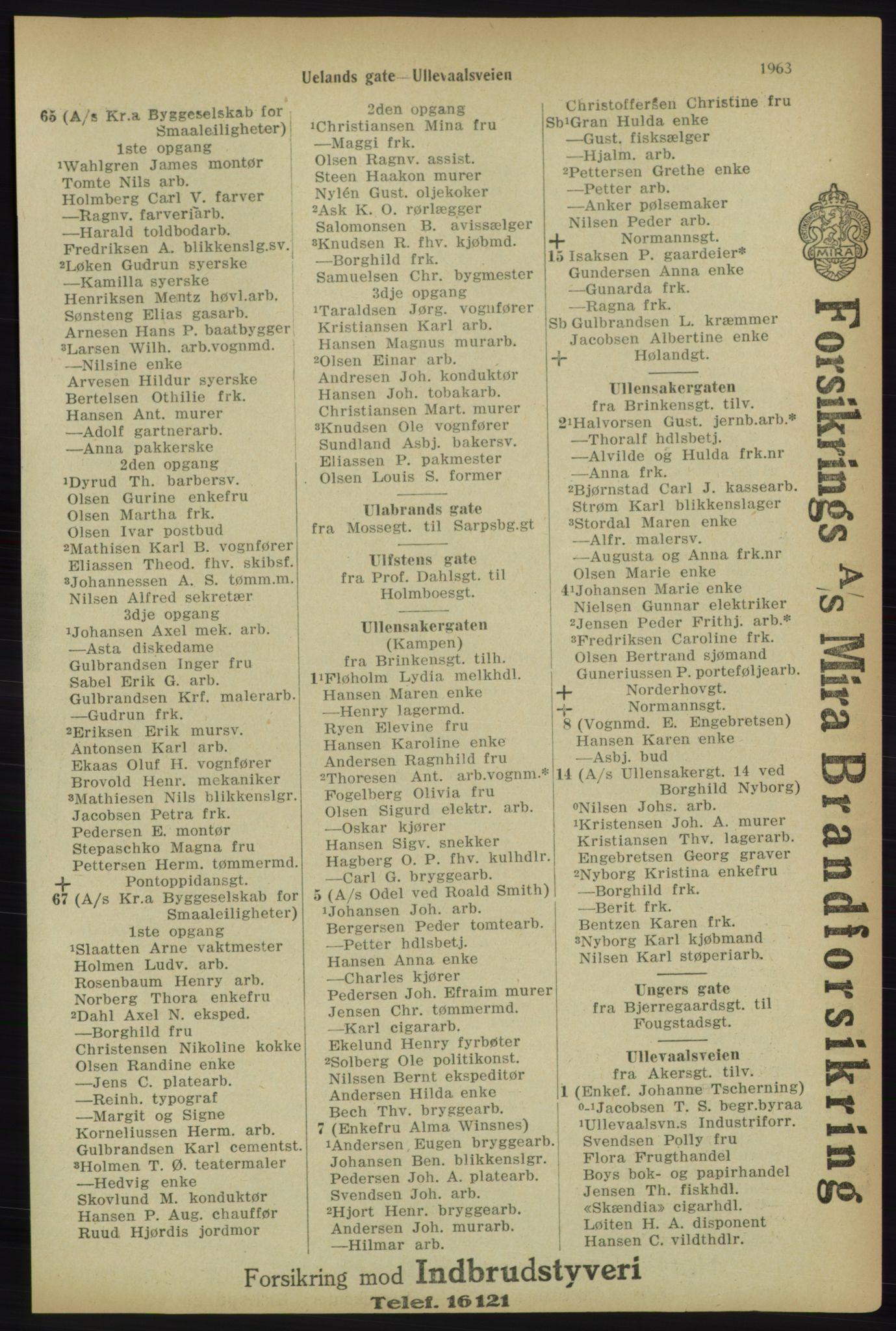 PUBL, Kristiania/Oslo adressebok, 1918, s. 2116