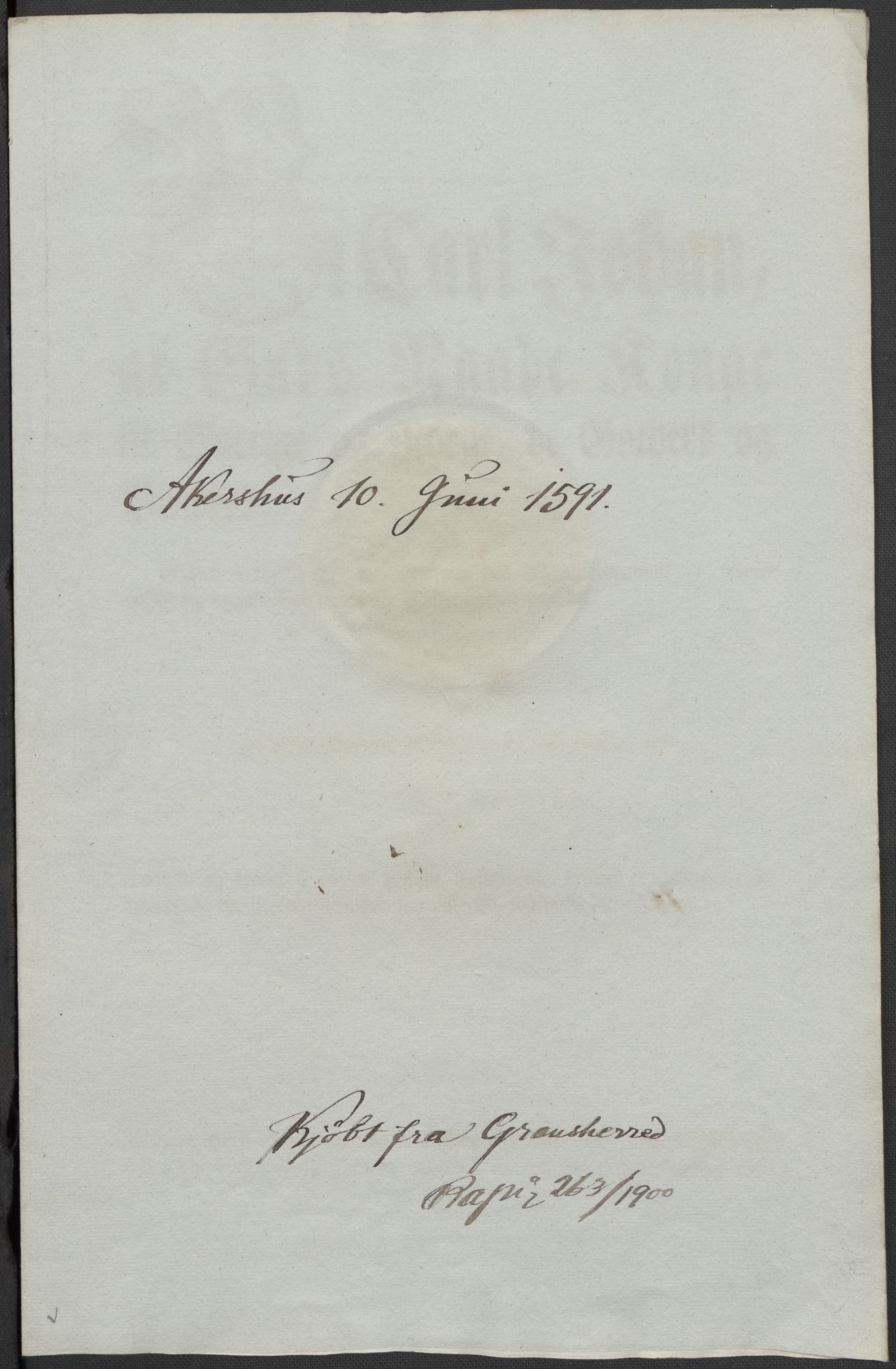 RA, Riksarkivets diplomsamling, F02/L0093: Dokumenter, 1591, s. 99