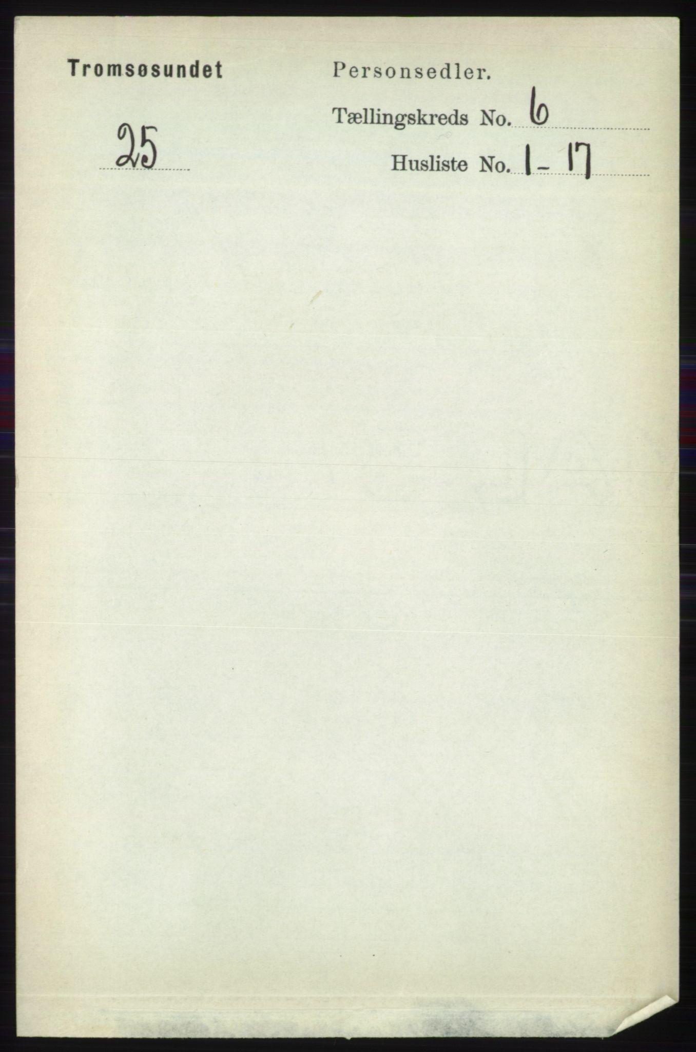 RA, Folketelling 1891 for 1934 Tromsøysund herred, 1891, s. 2997