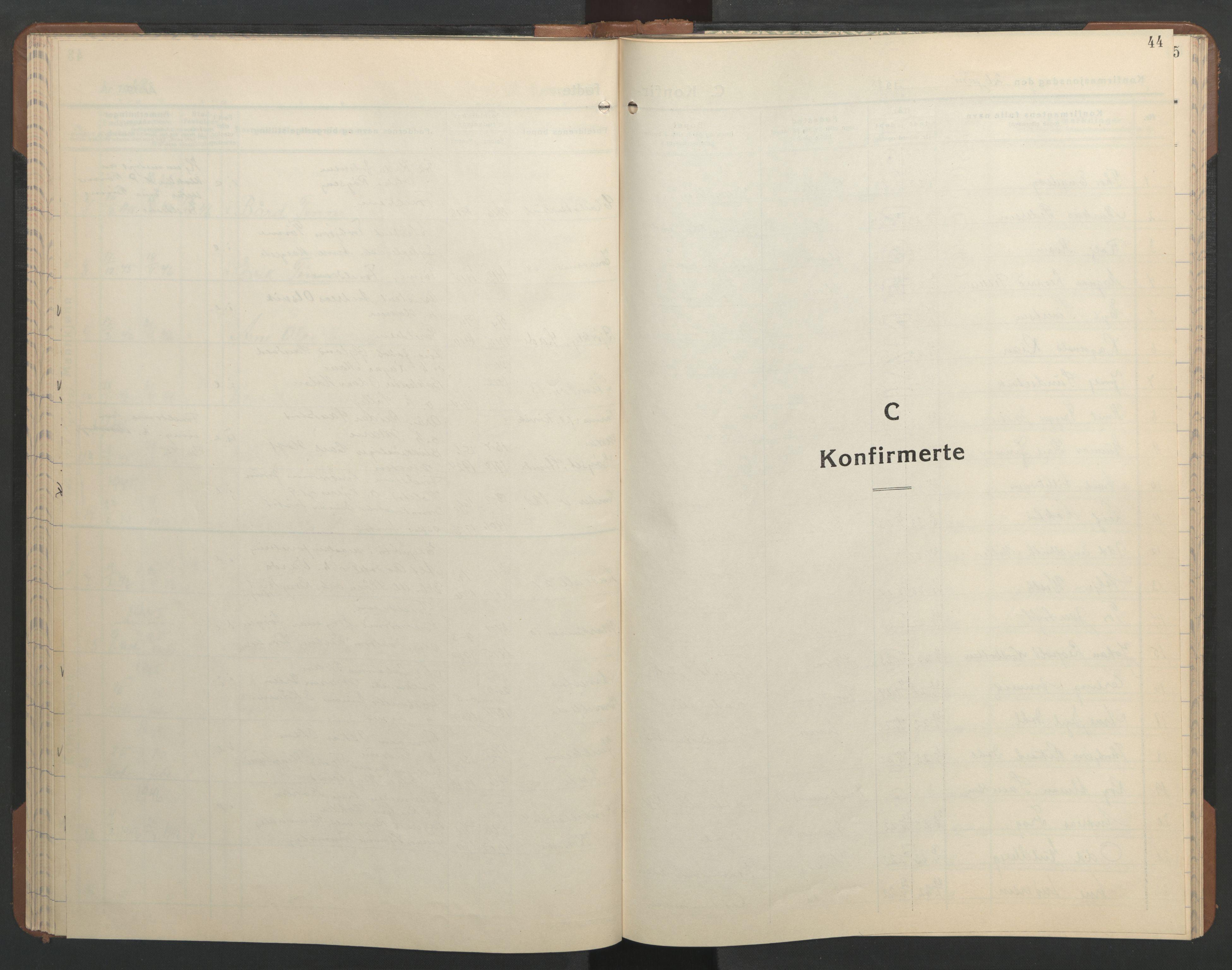 SAT, Ministerialprotokoller, klokkerbøker og fødselsregistre - Sør-Trøndelag, 606/L0315: Klokkerbok nr. 606C11, 1938-1947, s. 44