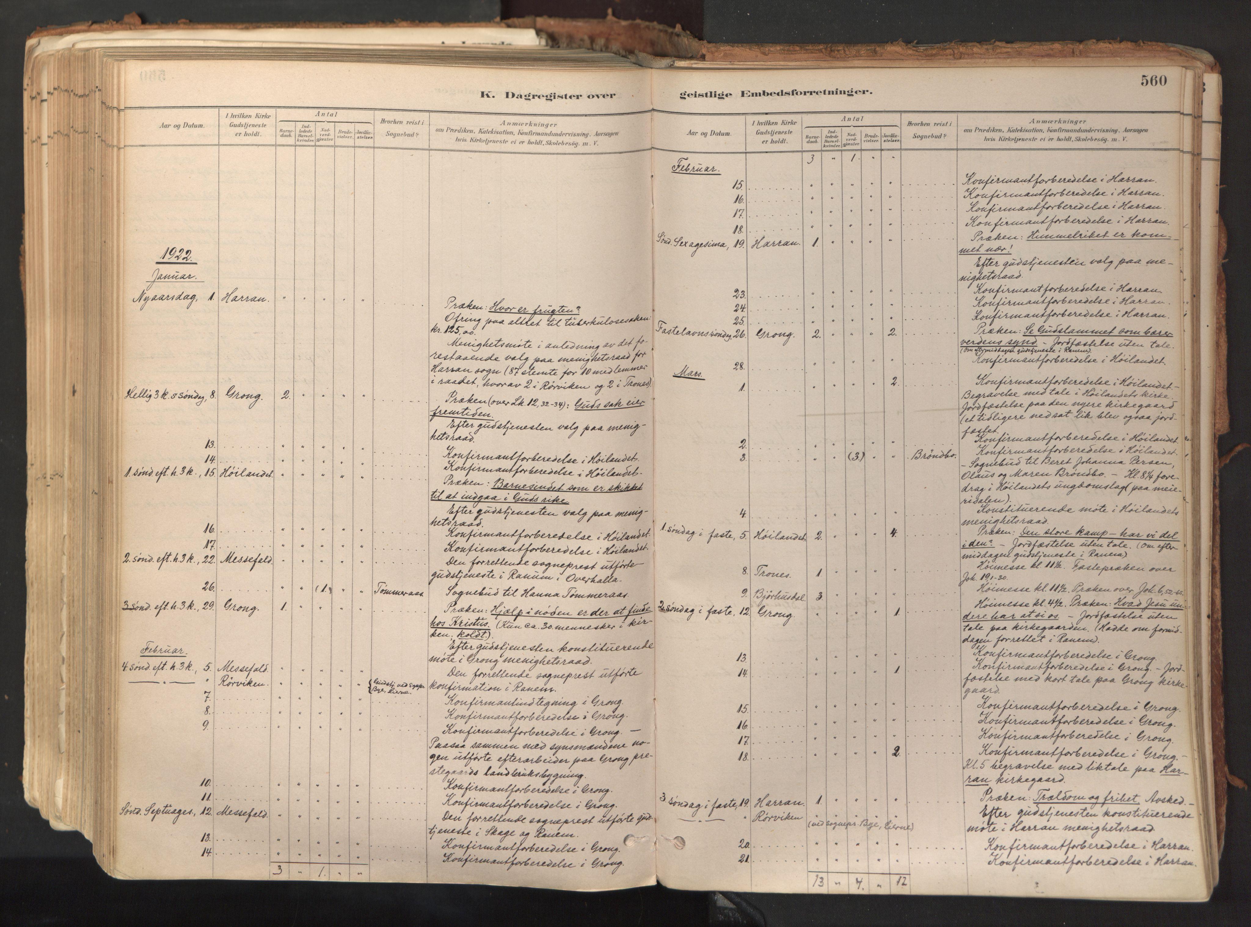 SAT, Ministerialprotokoller, klokkerbøker og fødselsregistre - Nord-Trøndelag, 758/L0519: Ministerialbok nr. 758A04, 1880-1926, s. 560