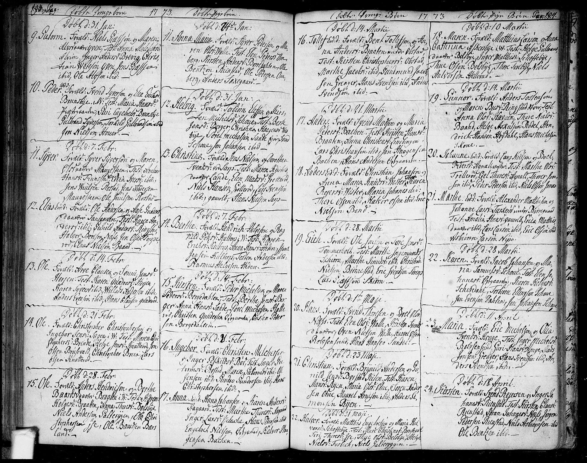 SAO, Tune prestekontor Kirkebøker, F/Fa/L0002: Ministerialbok nr. 2, 1758-1781, s. 193-194