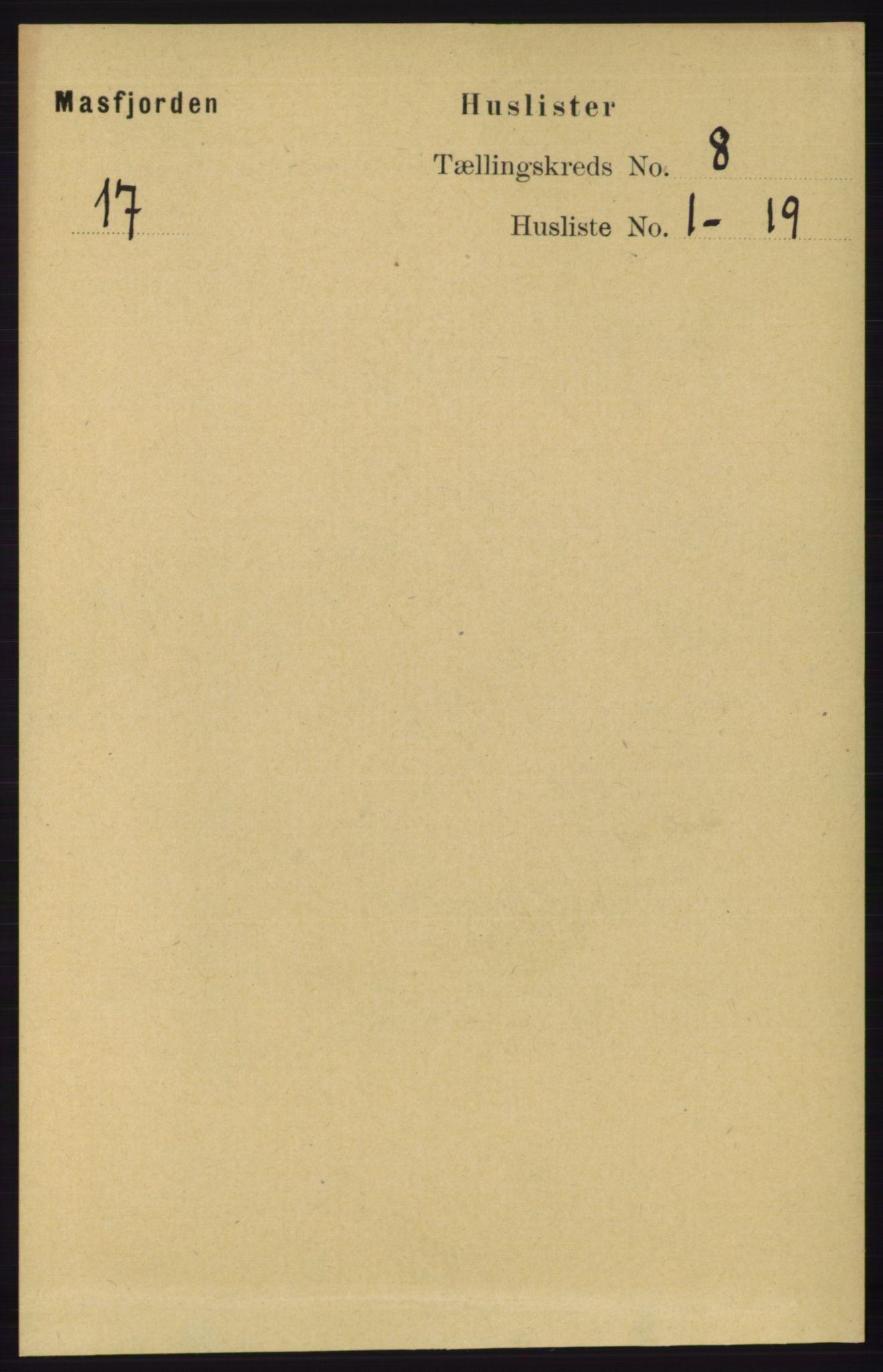 RA, Folketelling 1891 for 1266 Masfjorden herred, 1891, s. 1512