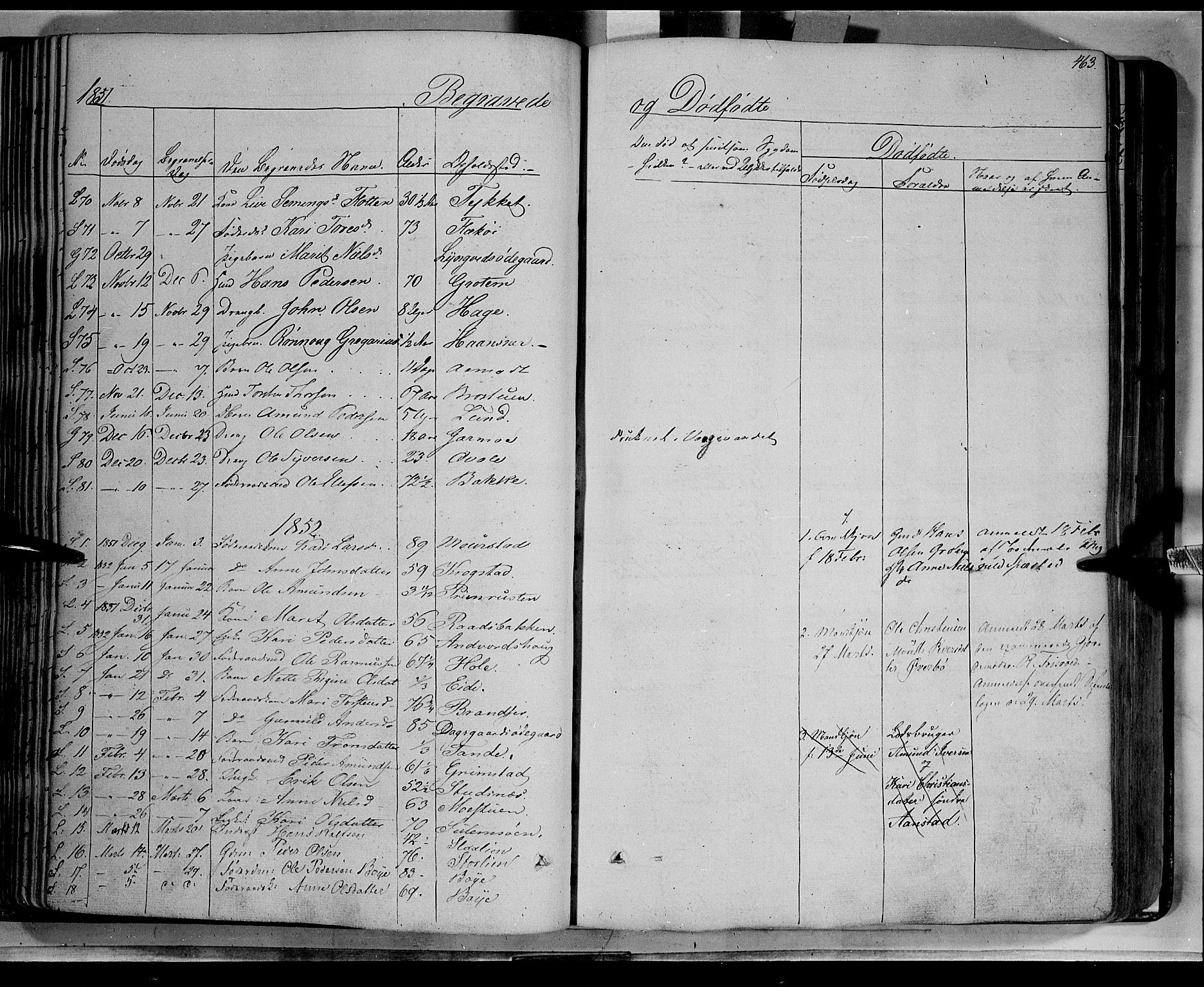 SAH, Lom prestekontor, K/L0006: Ministerialbok nr. 6B, 1837-1863, s. 463