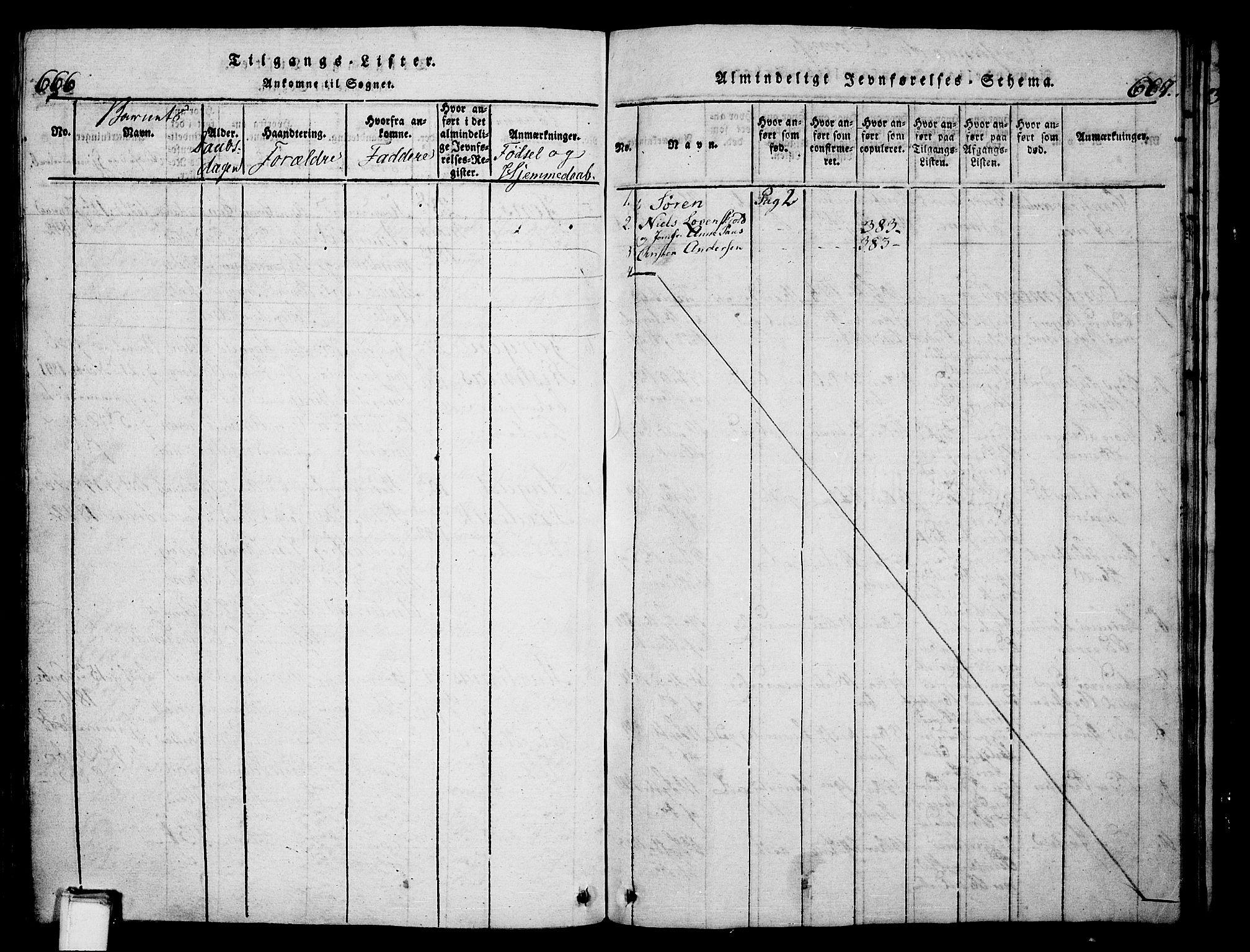 SAKO, Skien kirkebøker, G/Ga/L0002: Klokkerbok nr. 2, 1814-1842, s. 666-667