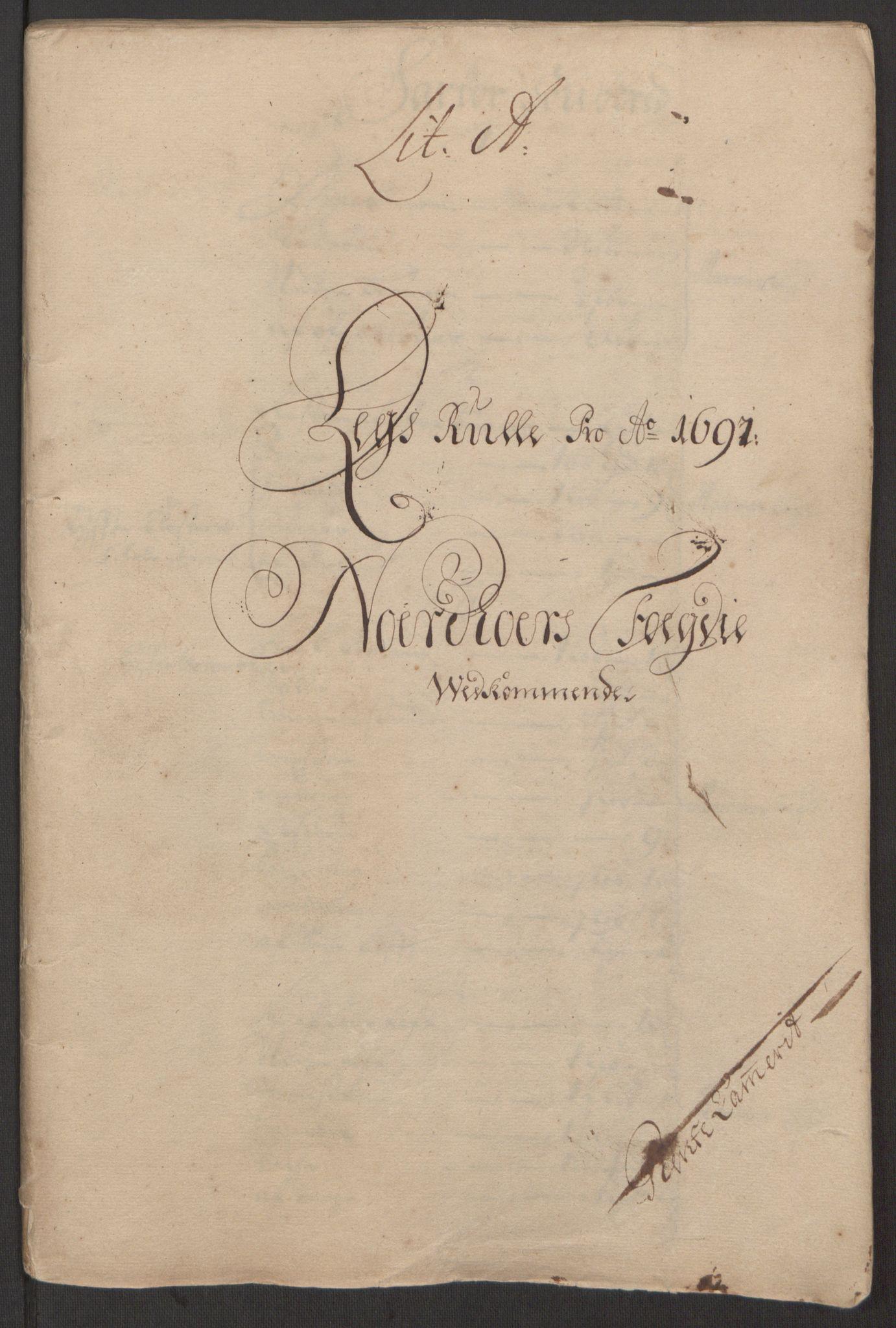 RA, Rentekammeret inntil 1814, Reviderte regnskaper, Fogderegnskap, R51/L3181: Fogderegnskap Nordhordland og Voss, 1691-1692, s. 11