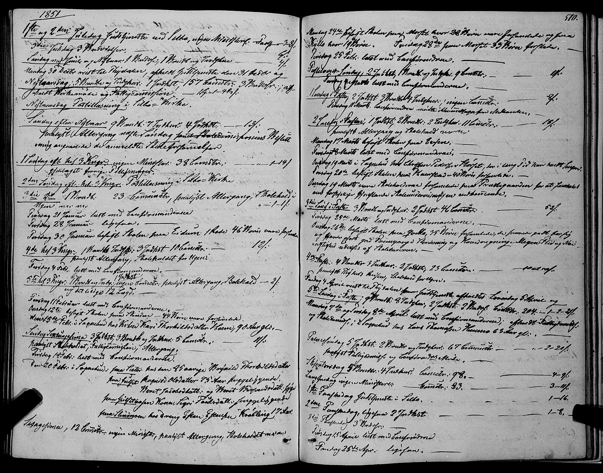SAT, Ministerialprotokoller, klokkerbøker og fødselsregistre - Sør-Trøndelag, 695/L1145: Ministerialbok nr. 695A06 /1, 1843-1859, s. 510
