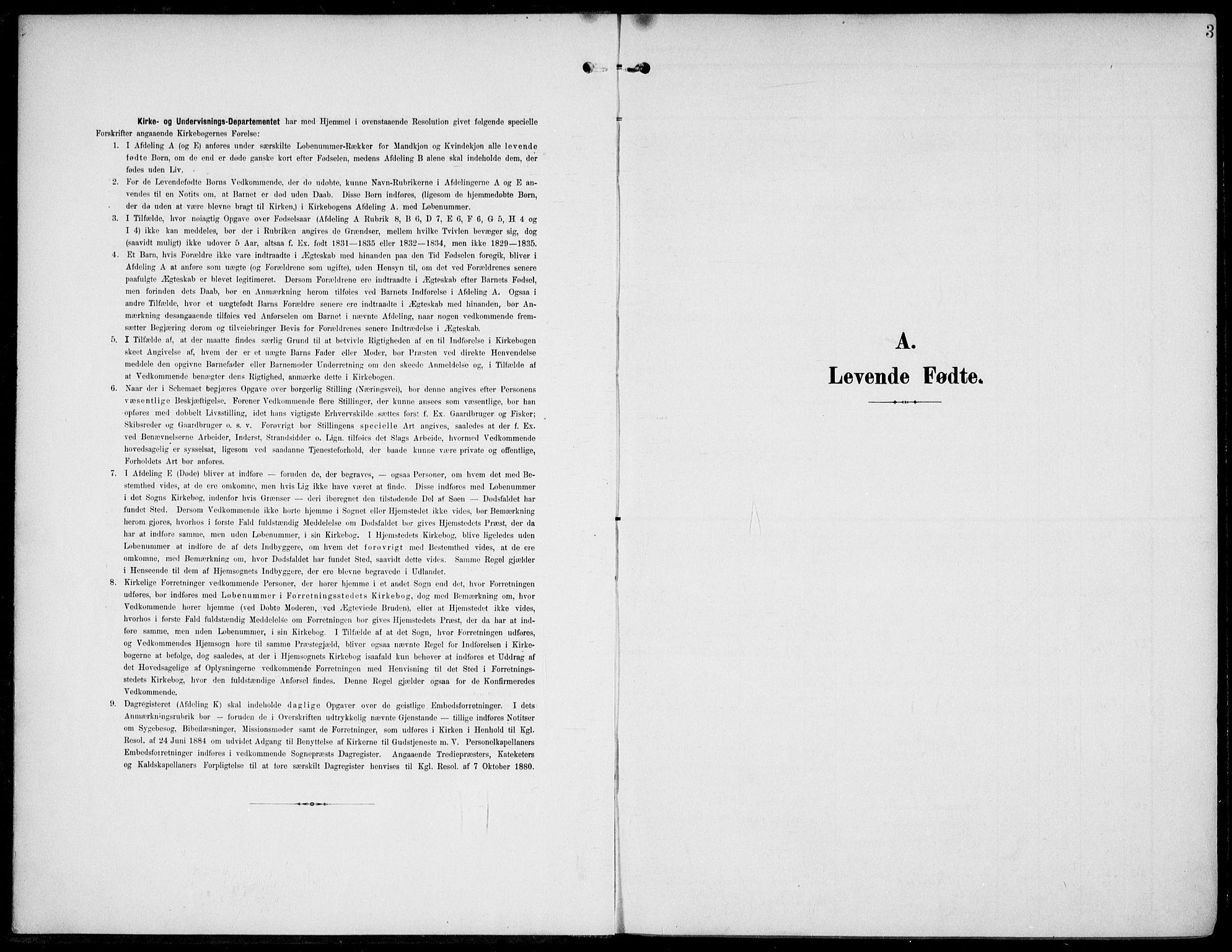 SAKO, Lunde kirkebøker, F/Fa/L0004: Ministerialbok nr. I 4, 1902-1913, s. 3